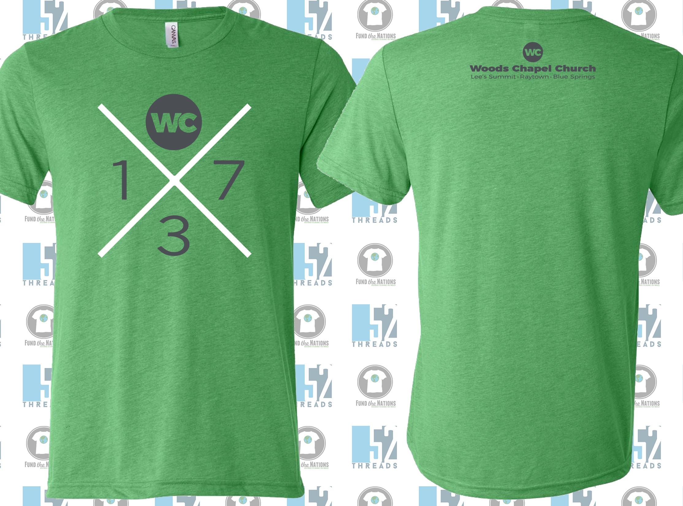 """1 Church, 3 Campuses, 7 Worshiping Communities"" Shirt"