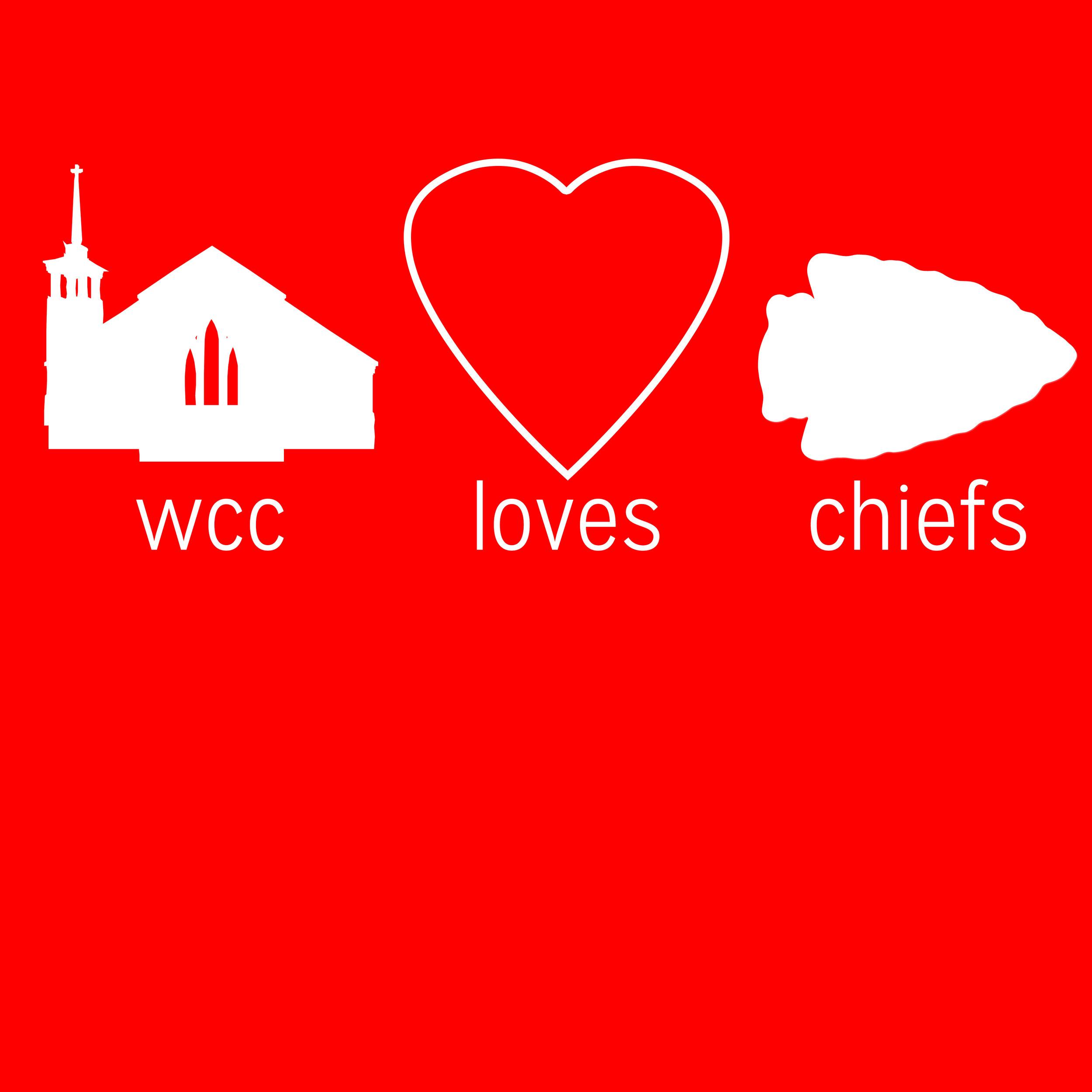"""Woods Chapel Church Loves the Chiefs"" Shirt"
