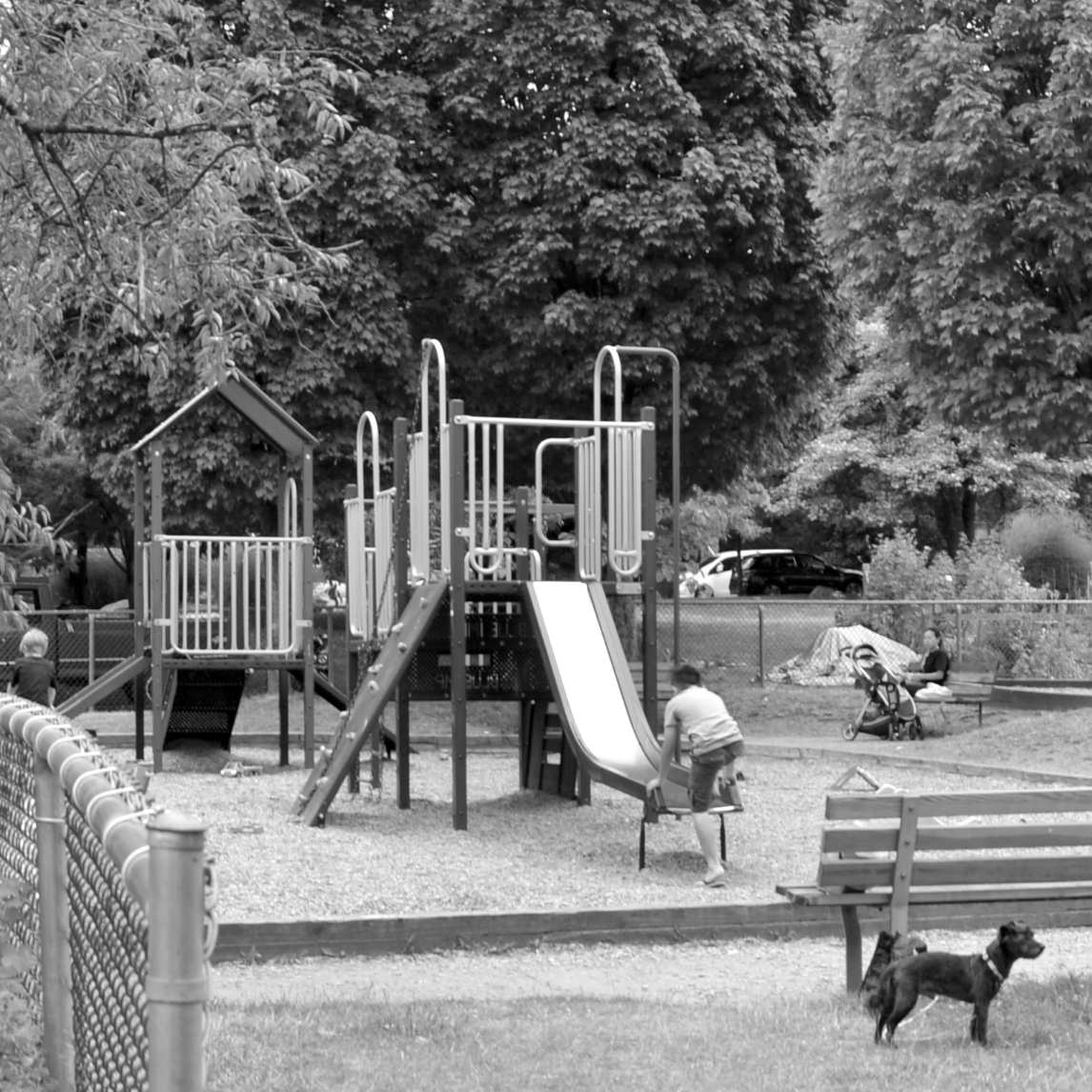 TEA SWAMP PARK   About a 5- to 10-minute walk north-east from my work space, this pocket park and wood-chip playground is intimate and great for all ages.   map