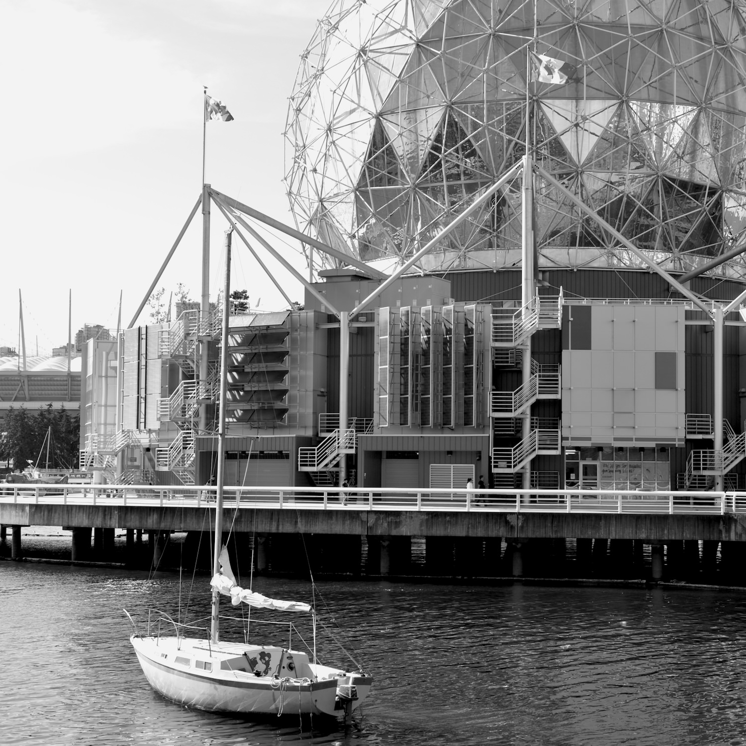 SCIENCE WORLD   This is one of Vancouver's most popular tourist attractions for children and young teens. You can spend hours at this facility, which also includes snacks bars, restaurants, and an accessible OMNIMAX theatre. Take the 3 Main bus northbound on Main St. for nine stops to Terminal Ave (about ten minutes), and then walk west one block on Terminal Ave.  Learn more here.    map