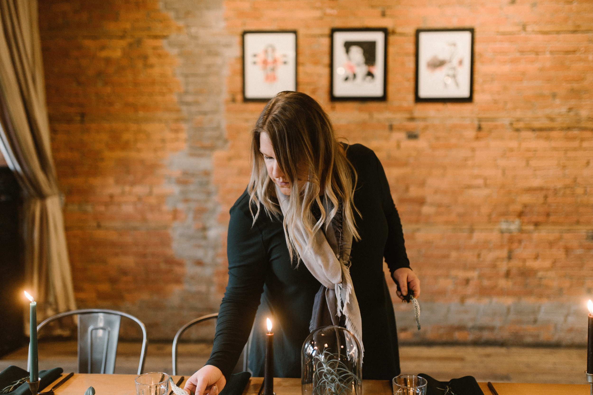 pictured above is talented Detroit wedding planner Miranda Crace of  Spoke Events