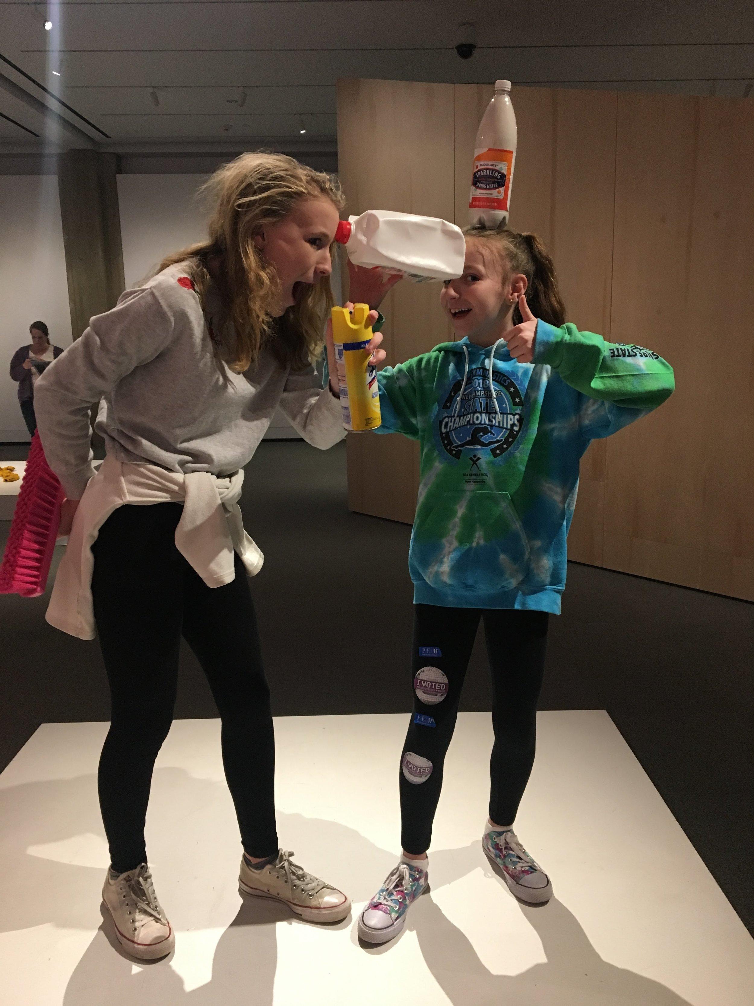 DIY sculpture in the PlayTime exhibit