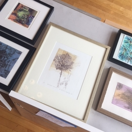 Barbara's print in the center, surrounded by some other beautiful work!