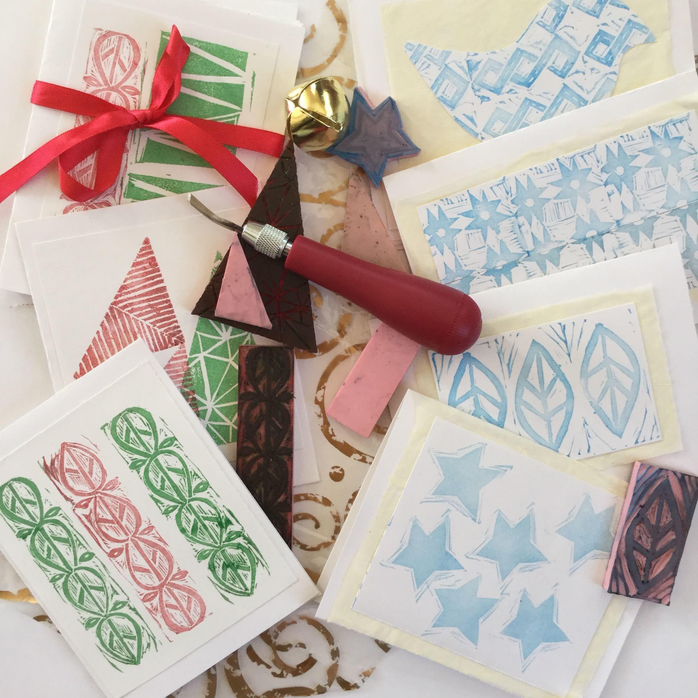 Blockprinting Cards 12/5