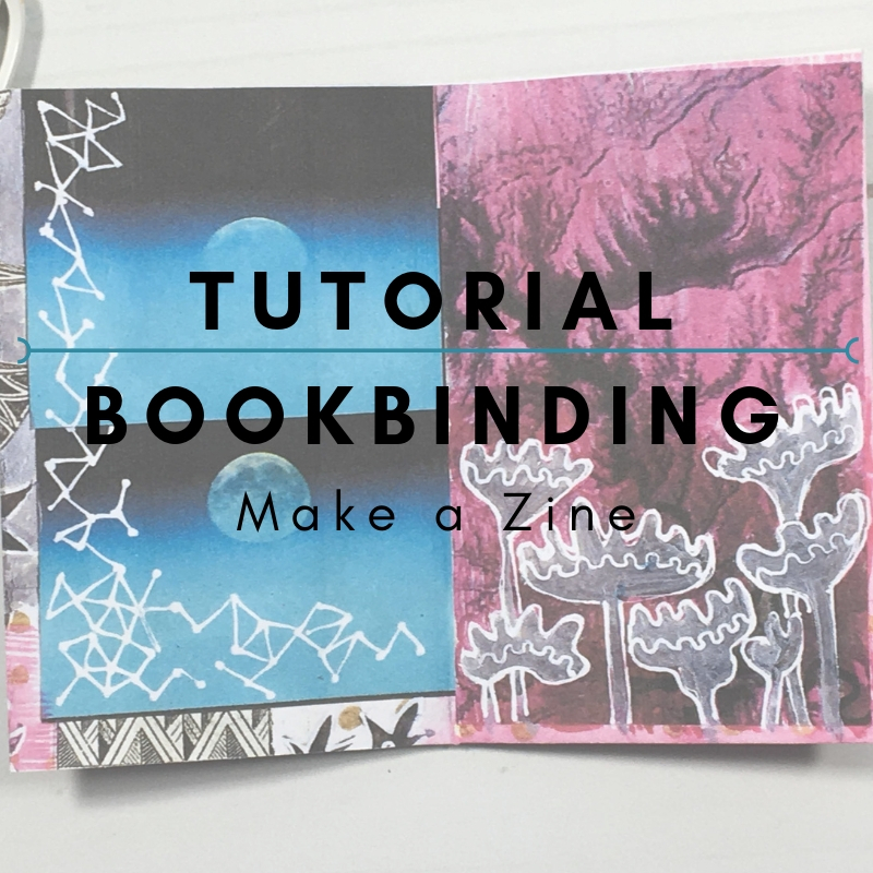 Tutorial: Making a Zine  Making a zine of your own is simple and fun. Plus you can photocopy the finished result and have an artists book to share with friends. Have a look at this zine I made with some basic instructions on how to make your own at my YouTube channel.
