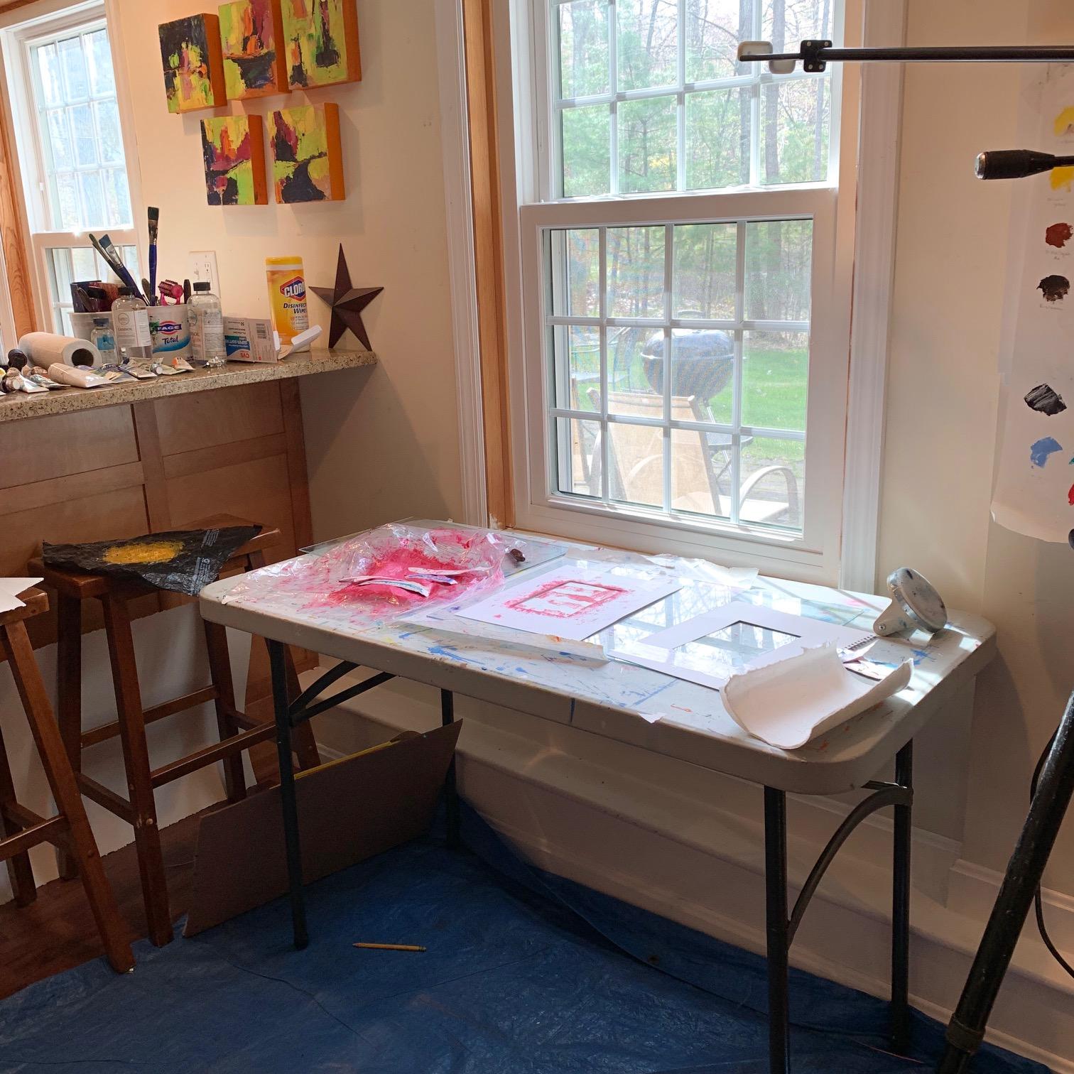 Printmaking studio view