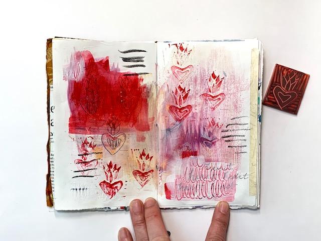blockprinting meets journaling