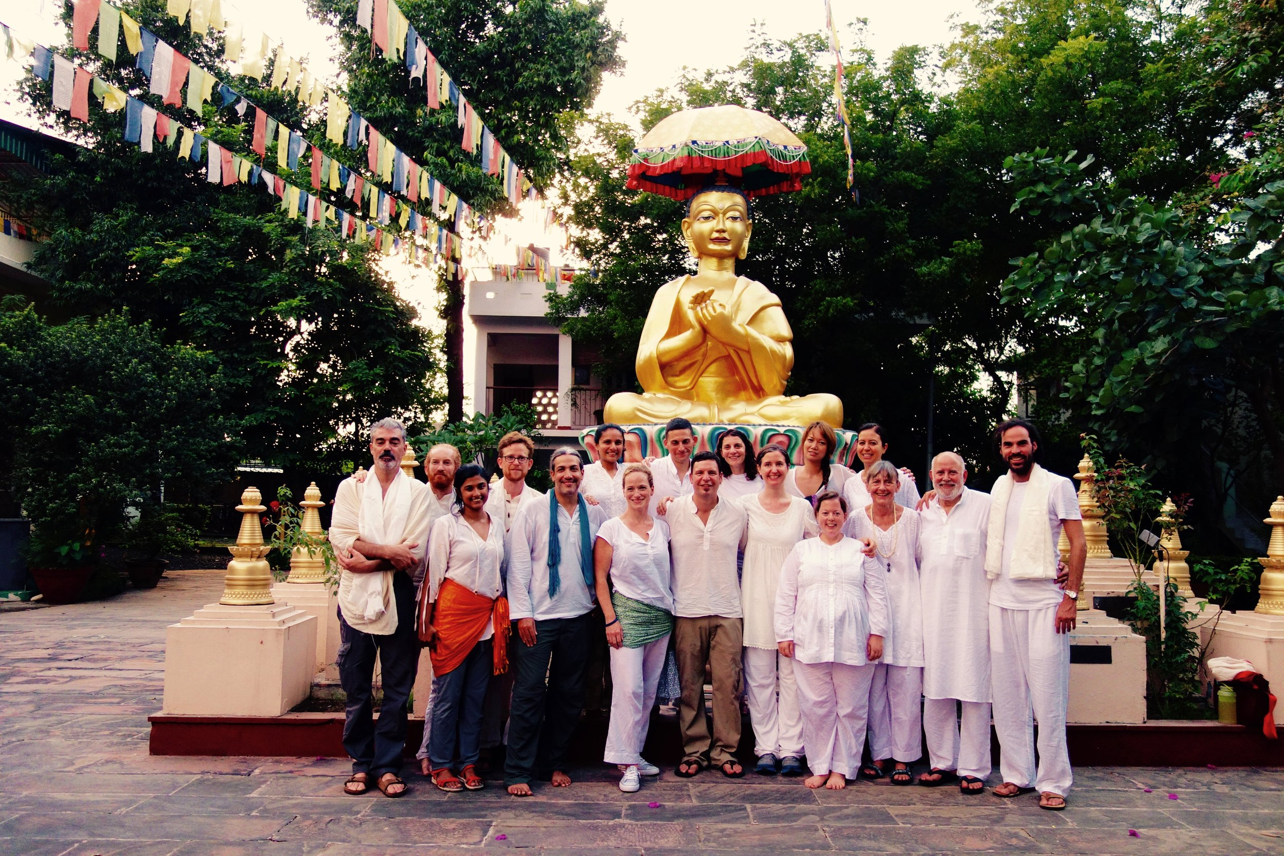 Footsteps of the Buddha… - During our inaugural group pilgrimage to India we visited the power places associated with the Buddha's life and teaching.