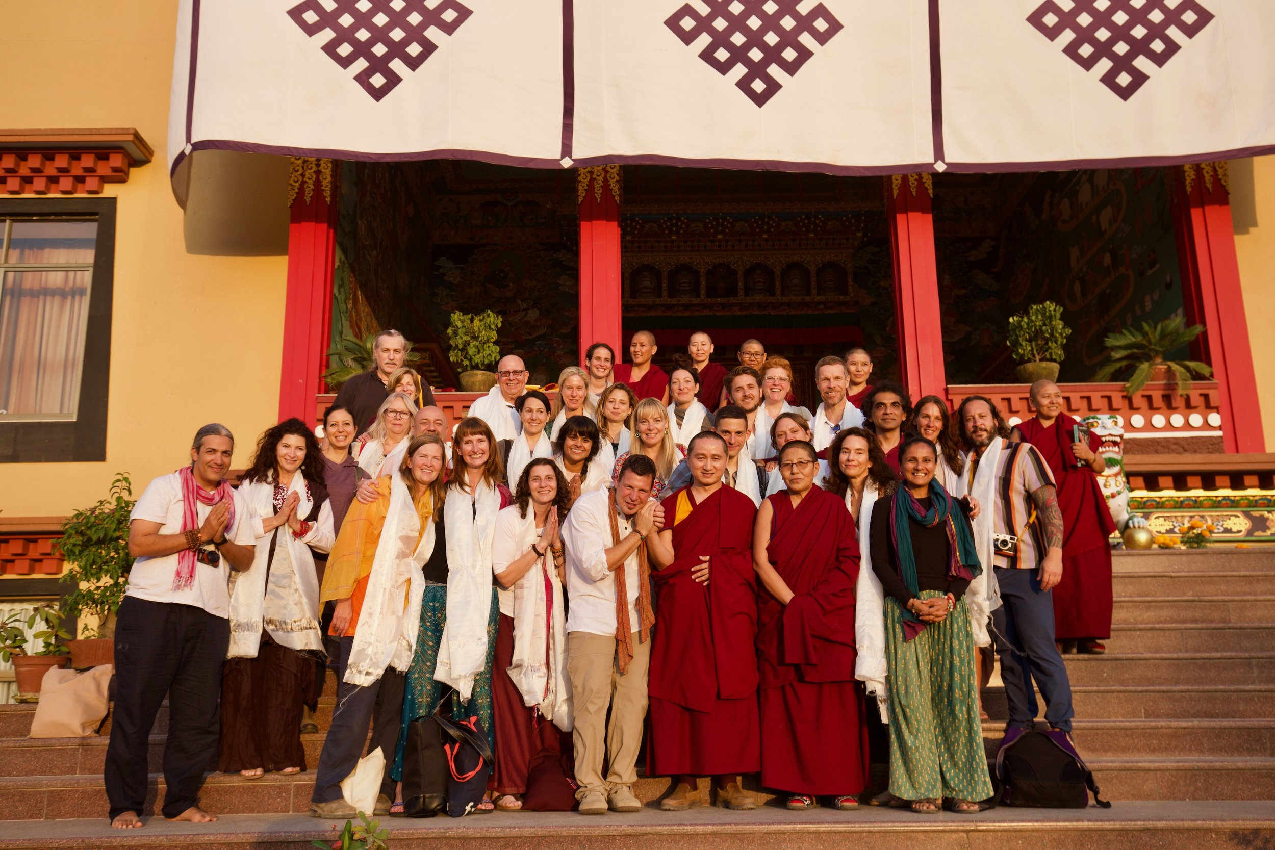 Power Places of Kathmandu - During our second group pilgrimage 32 pilgrims spent the first week visiting the tantric power places of the Kathmandu Valley and the second week in retreat with Geshe Tenzin Zopa at Kopan Monastery.