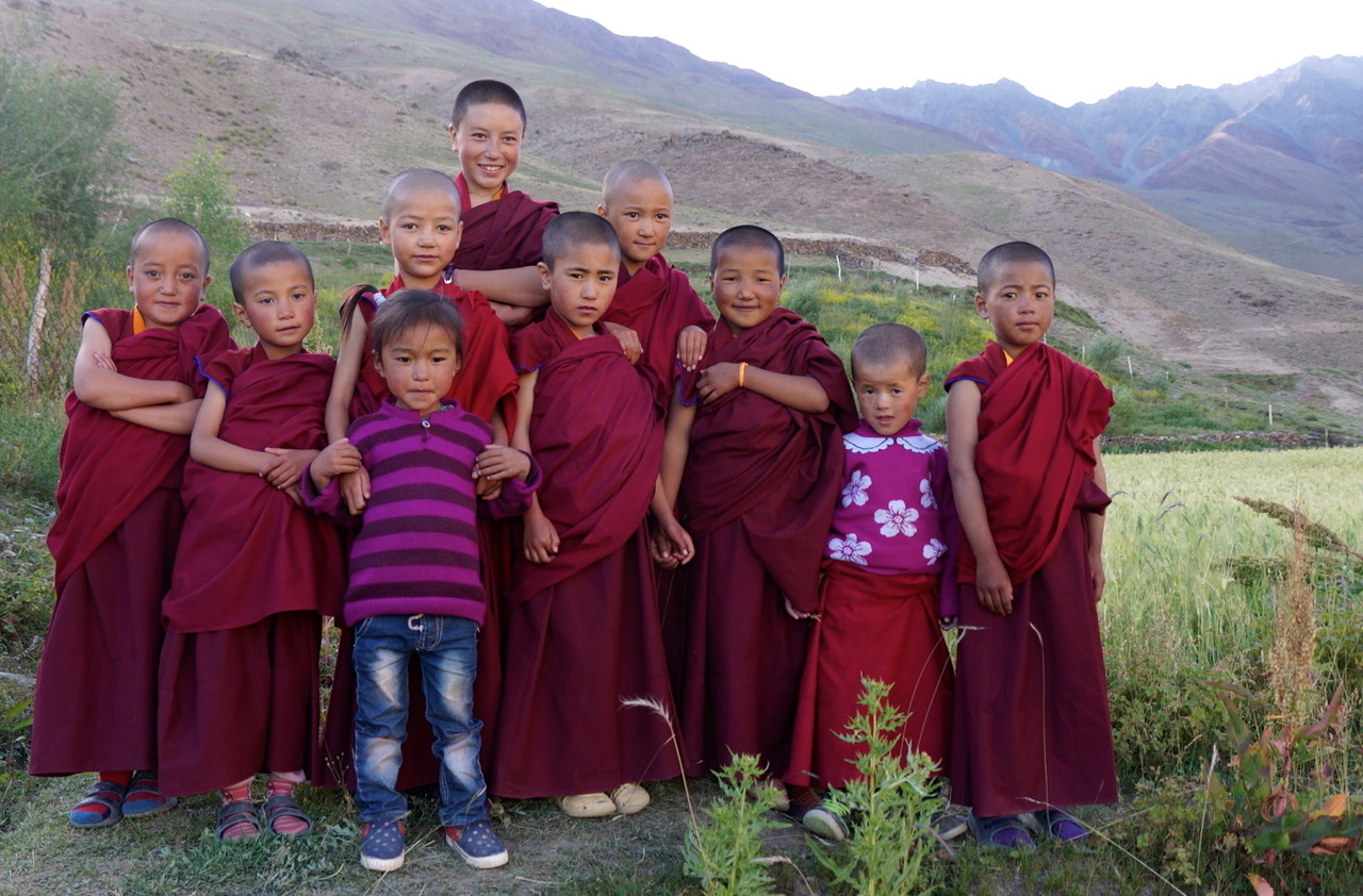 """Fundraiser - Each pilgrim will pledge a $500 donation above the pilgrimage fee toward the support of the Dorje Zong Nunnery in Zanskar. Exercising generosity is essential aspects of the path.Our seven day """"Extension"""" takes you to Zanskar to meet the nuns of Dorjee Zong! See below for the Zanskar Itinerary."""