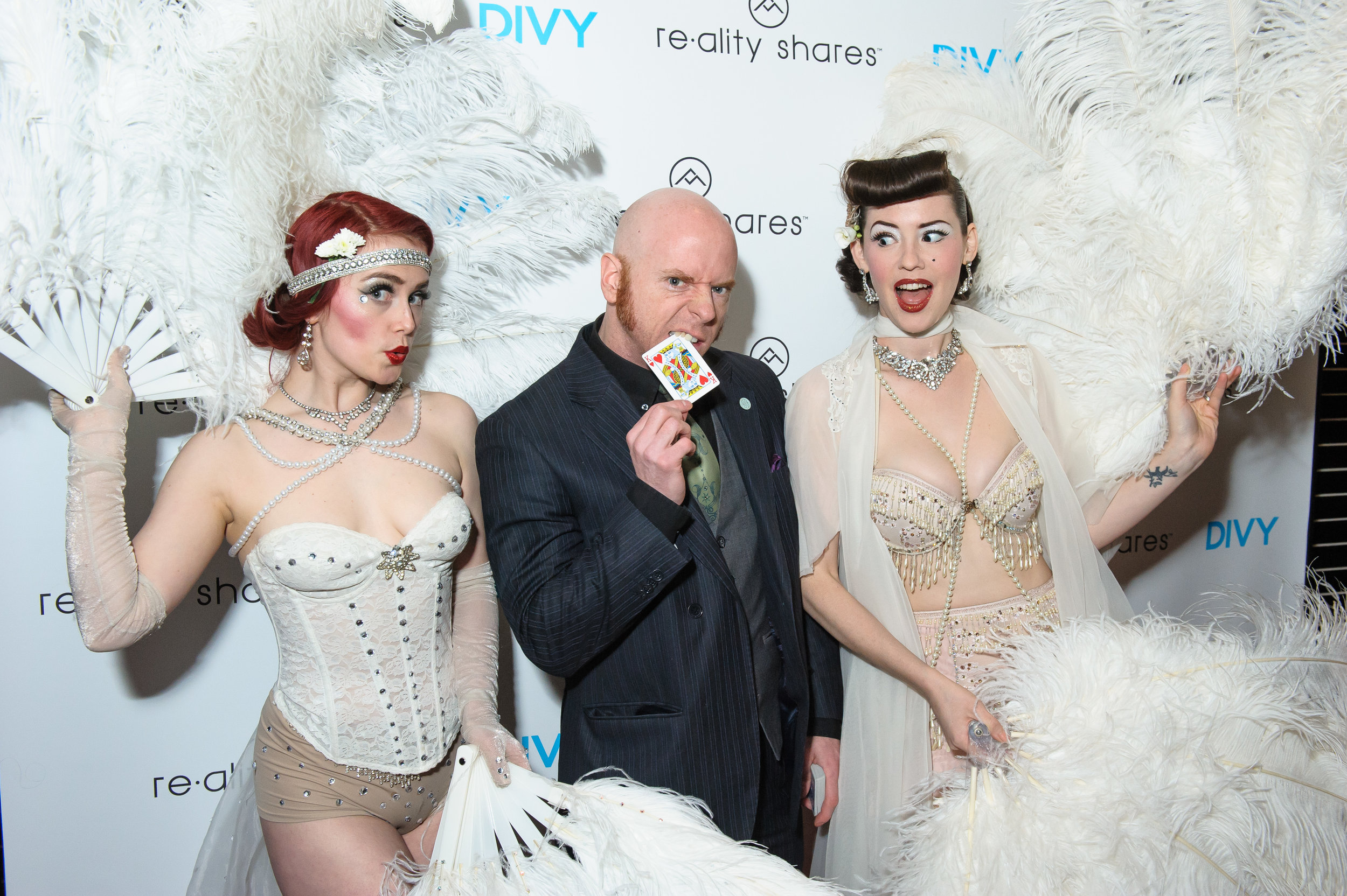 Add ons: - 1.5hours on site————————————-+ Tap: $400 + Emcee: $500+ Burlesque: $650+ Magician: $700+ Basic Cigarette trays + props: $250+ Large Feather Fans: $300+ Premium Cigarette trays + props: $450+ Addtional 30min: $60/performer