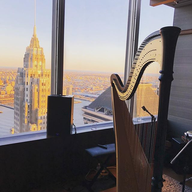 City views @oandeband #birthday #jazzband #nycjazz #jazz #singingharpist #harpist #livemusic #entertainment @lvertalent