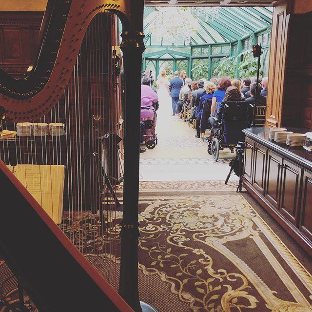 Busy day, two happy couples, congratulations! 🎉🍾🎊 #oandeband #lvertalent #singingharpist #weddingmusic #weddingband #nyc #nj #jazz #pop #classical #ceremonymusic