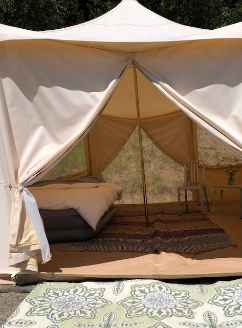 Tent at Meadow Glamping Site