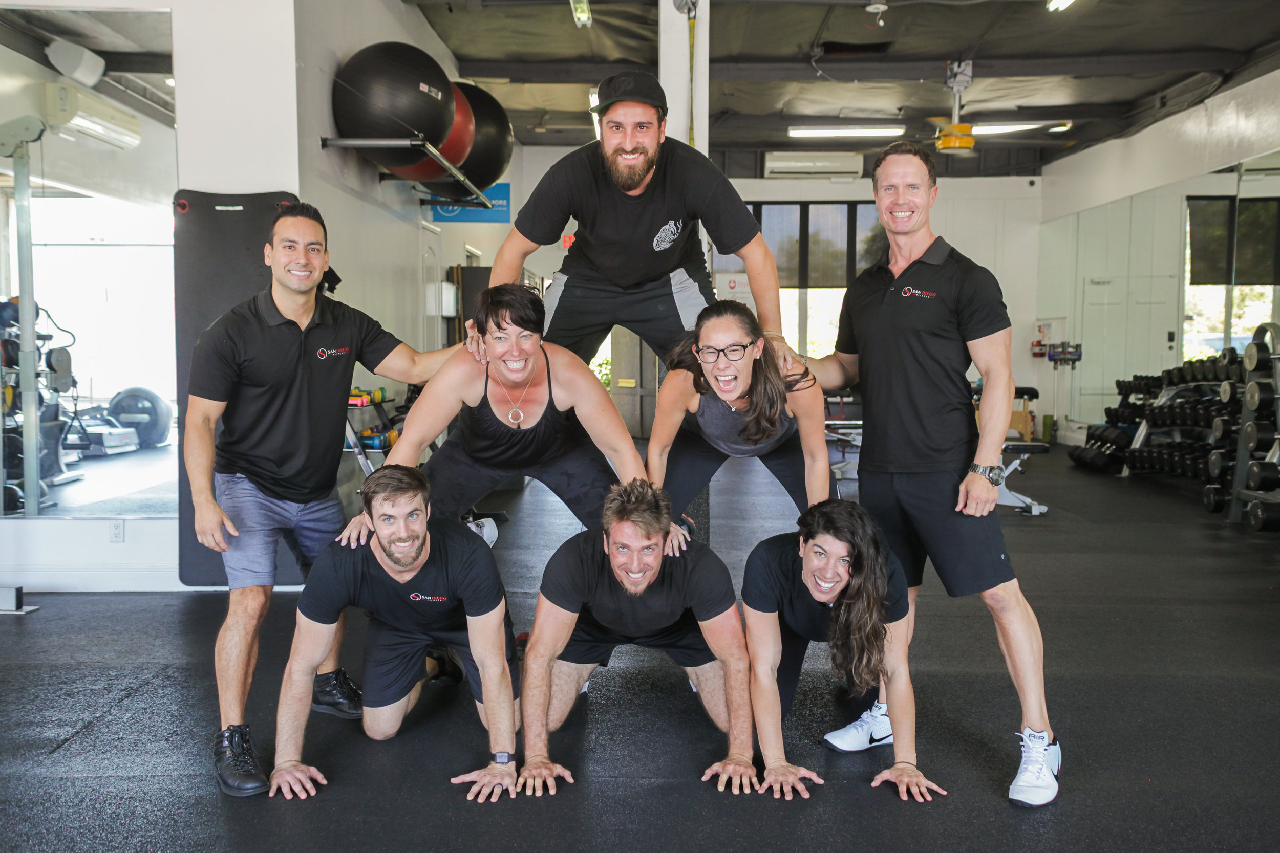 PEOPLE - With a team of professional personal trainers, San Diego Fitness attracts the elite and most highly experienced fitness professionals throughout the area. There is no category untouched by our Certified Personal Trainers, whether you're looking for general weight loss, to more specific needs such as post rehabilitation and beyond.