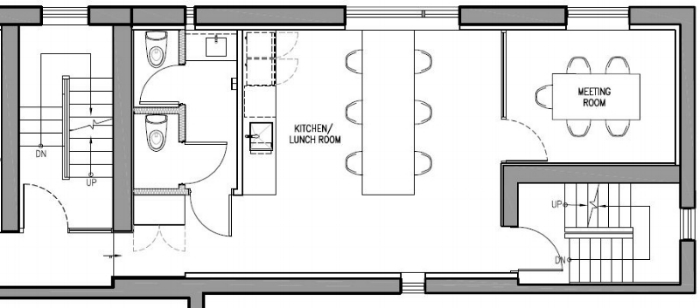 2nd floor south kitchen & meeting room