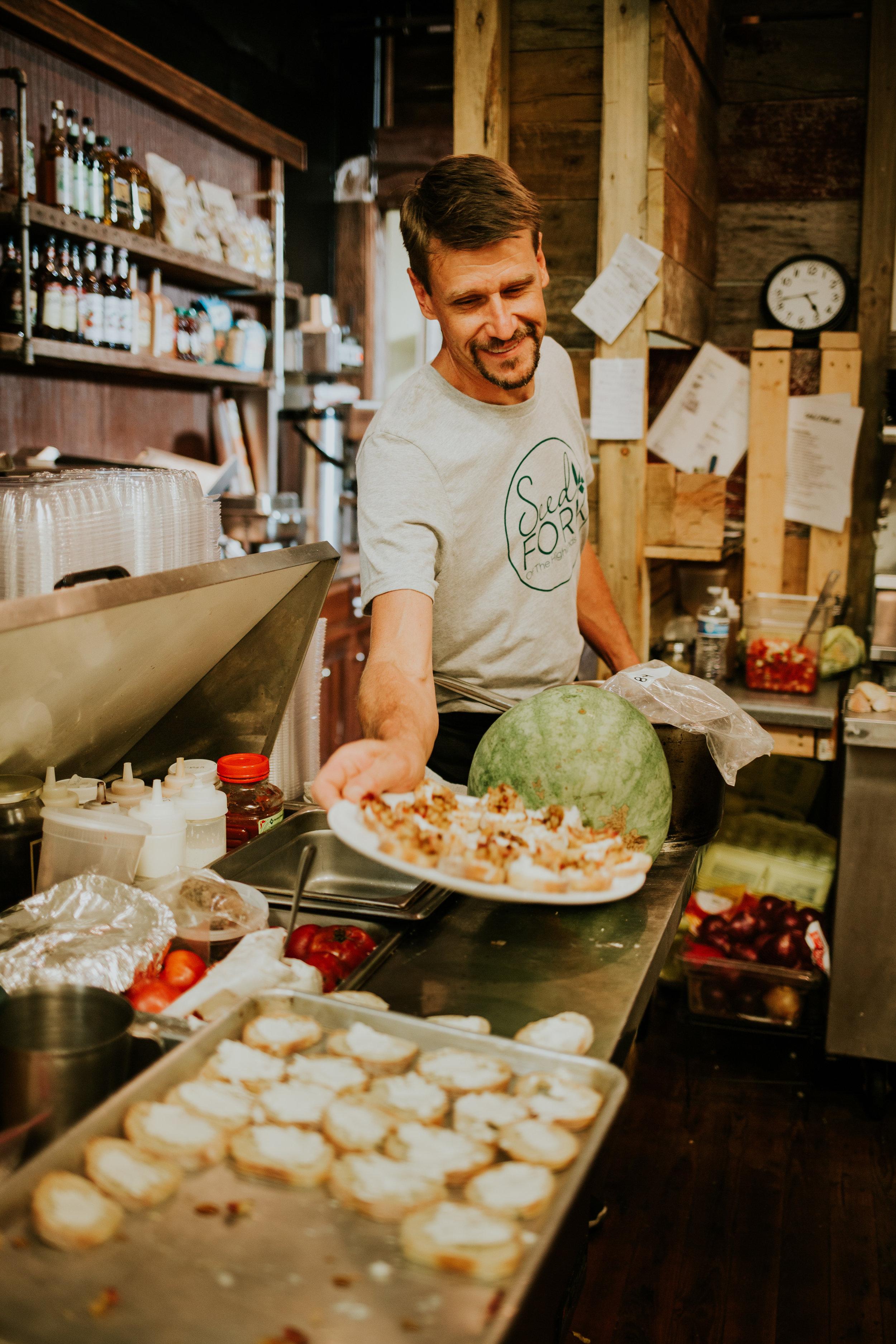 Chef Rodney Laulo SeedFork Farm to Fork Dinner Local Food Hero