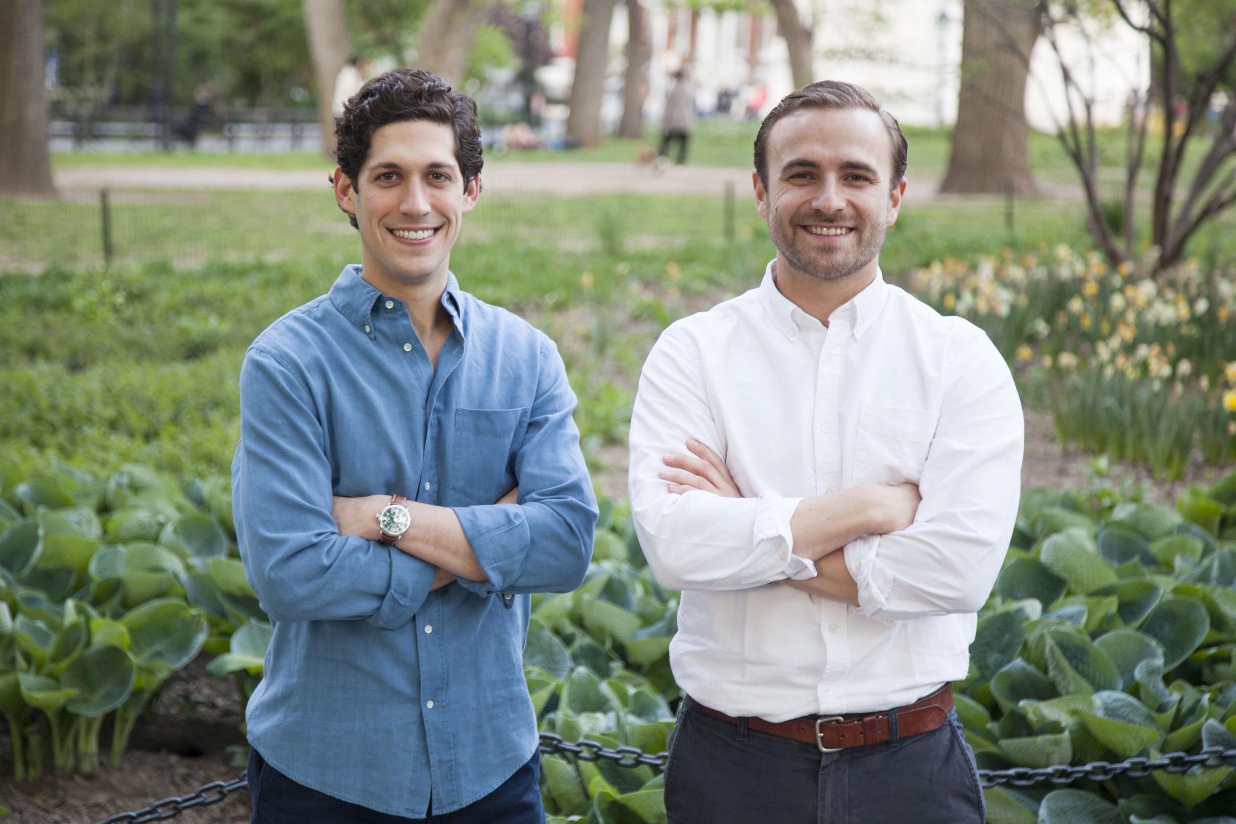Nick Martell (L) and Jack Kramer (R), Co-Founders of MarketSnacks