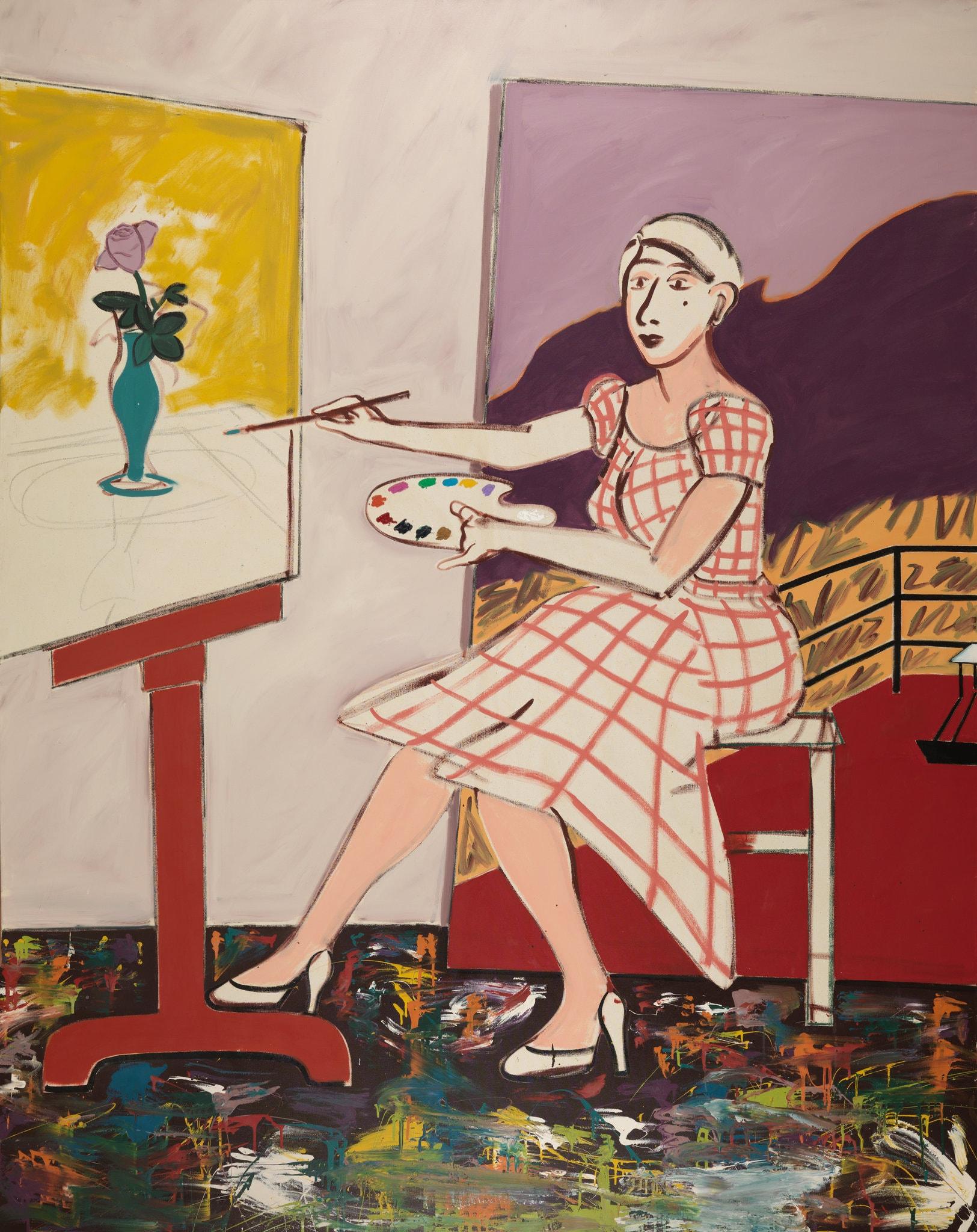 """Joan Brown, """"Self-Portrait,"""" 1977"""