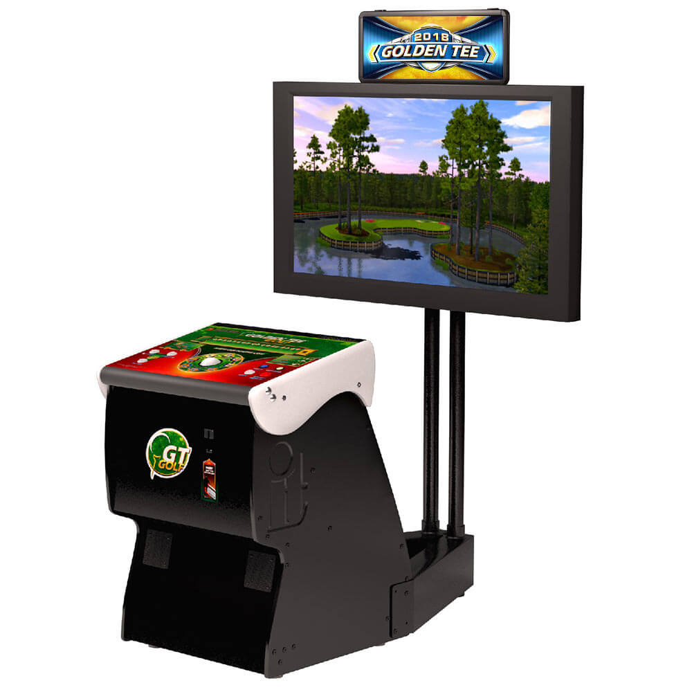 Golden Tee   Golden Tee 2017 is the latest version of the legendary pay-to-play video golf game. Avid video golfers around the world compete against the course, with friends or head-to-head in a wide variety of skill contest formats
