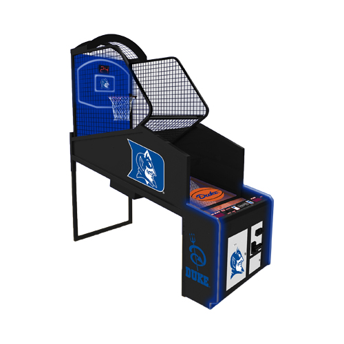 NBA Gametime - Pop-A-Shot   Arcade basketball of the 21st century. New LED lighting, moving hoop and customized marquees available. Customize your game with your favorite local NBA or College team.  Dimensions: 99H x 39W x 105D