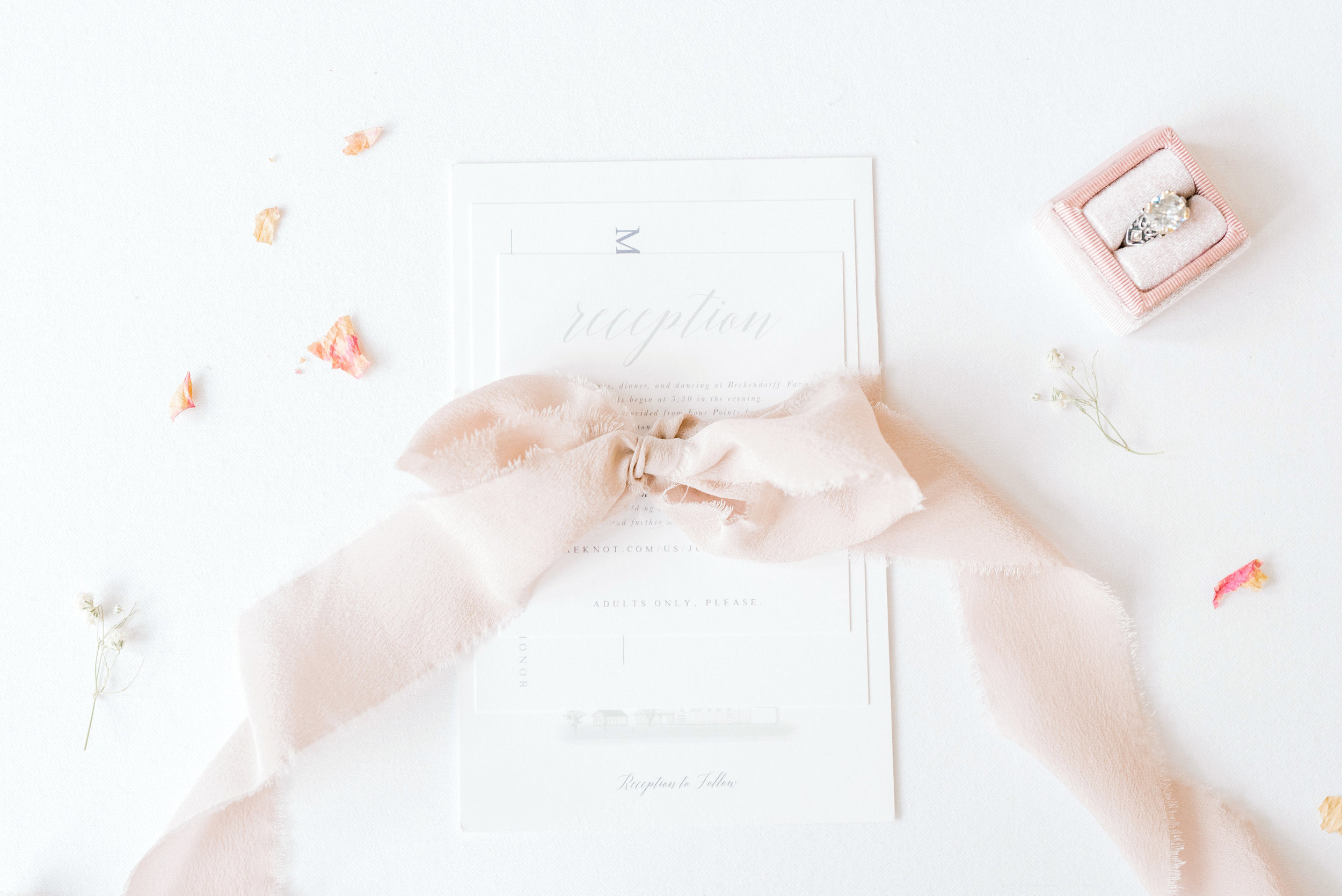Stationery | Andrea Haughey Design  Photography | Karlee Steingrobe Photography  Planning & Styling | To Be Loved Events  Ribbon | Tono & co.
