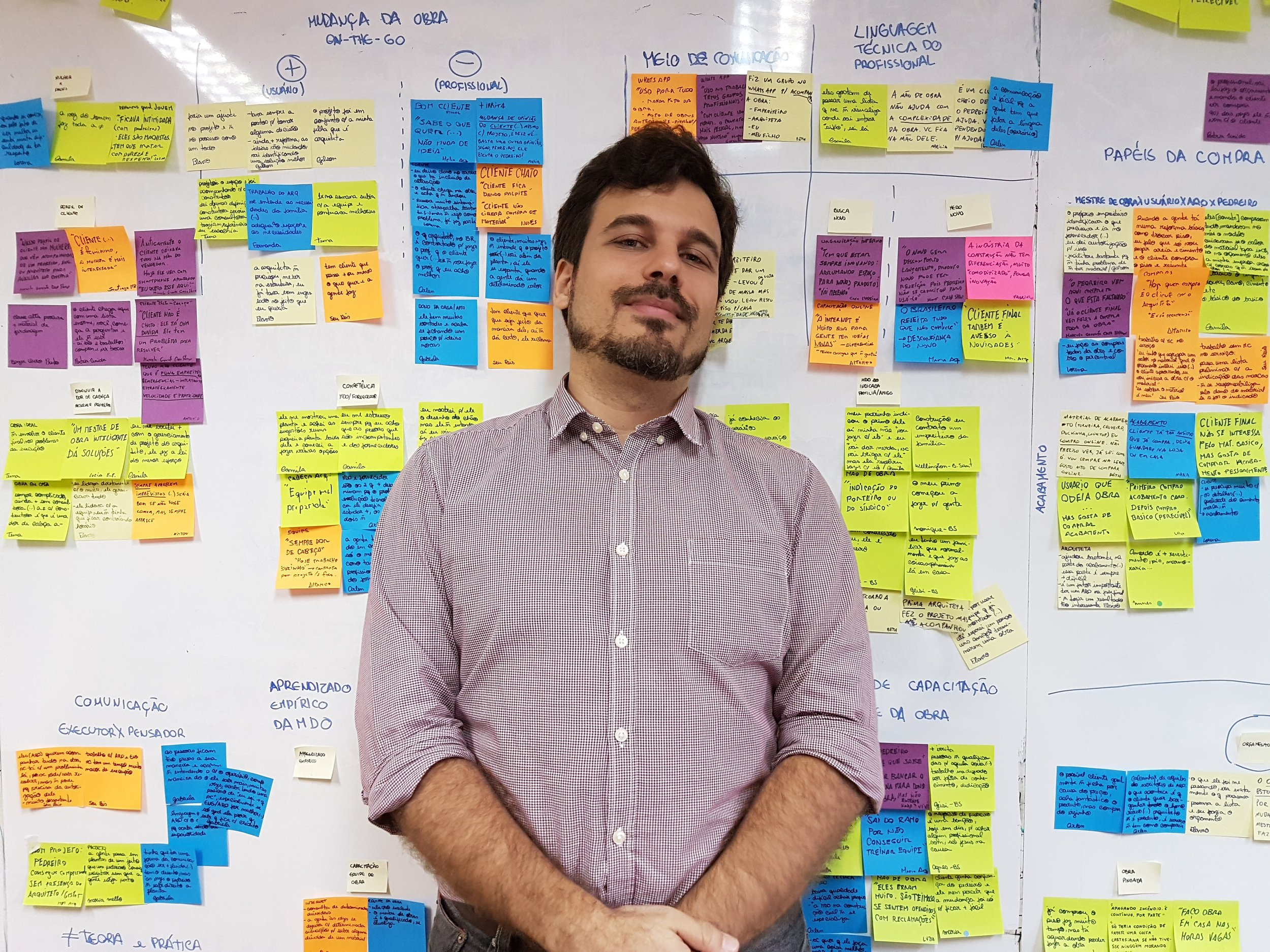 Proud of the amazing post-it wall filled with the result of two weeks of interviews.