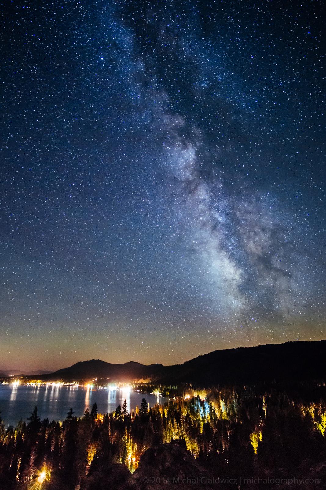 The Milky Way Above Tahoe (Sony A6000 + Rokinon 12mm f/2.0)