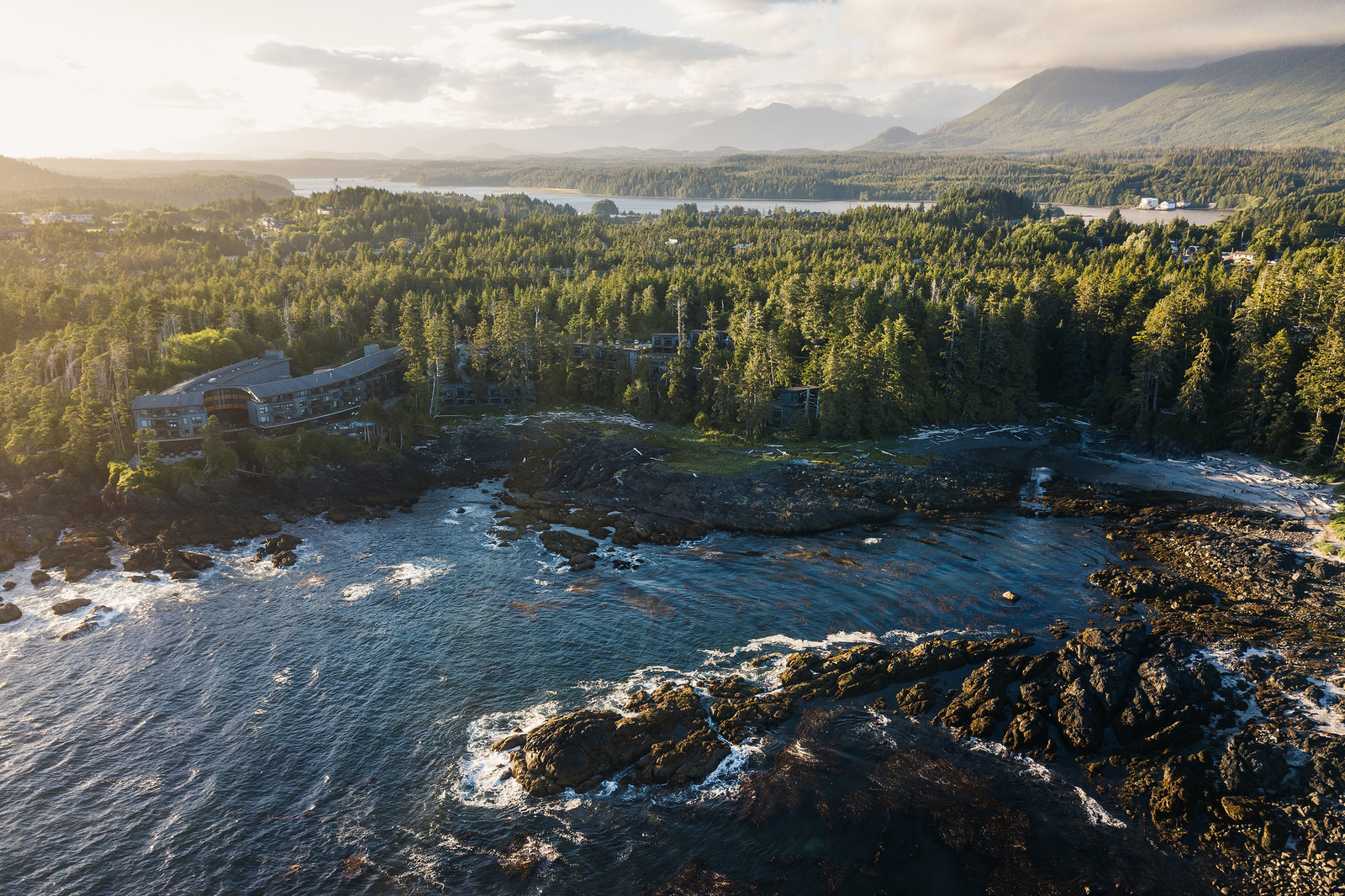 Big Beach Cove, Ucluelet at Sunset