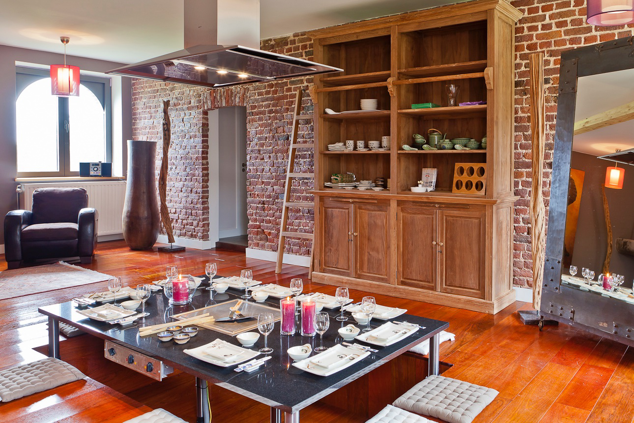 Japanese Dining Room  - An authentic Japanese teppanyaki dining table, for a memorable culinary experience.