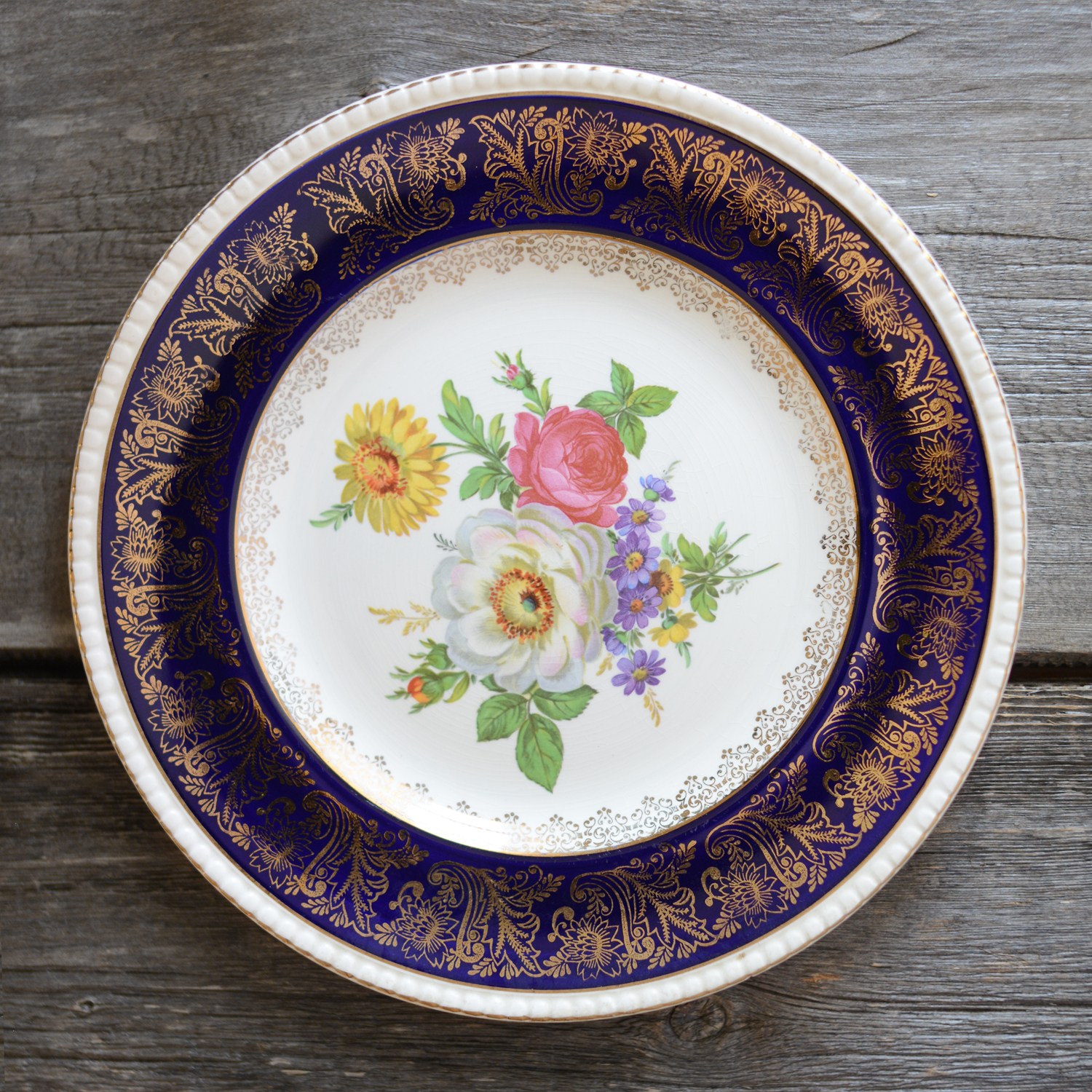 corbidge dinner plate - navy