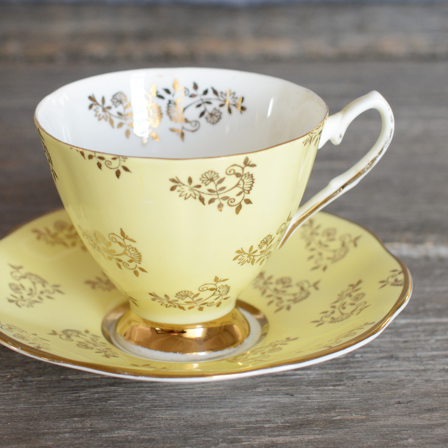 espin tea cup and saucer