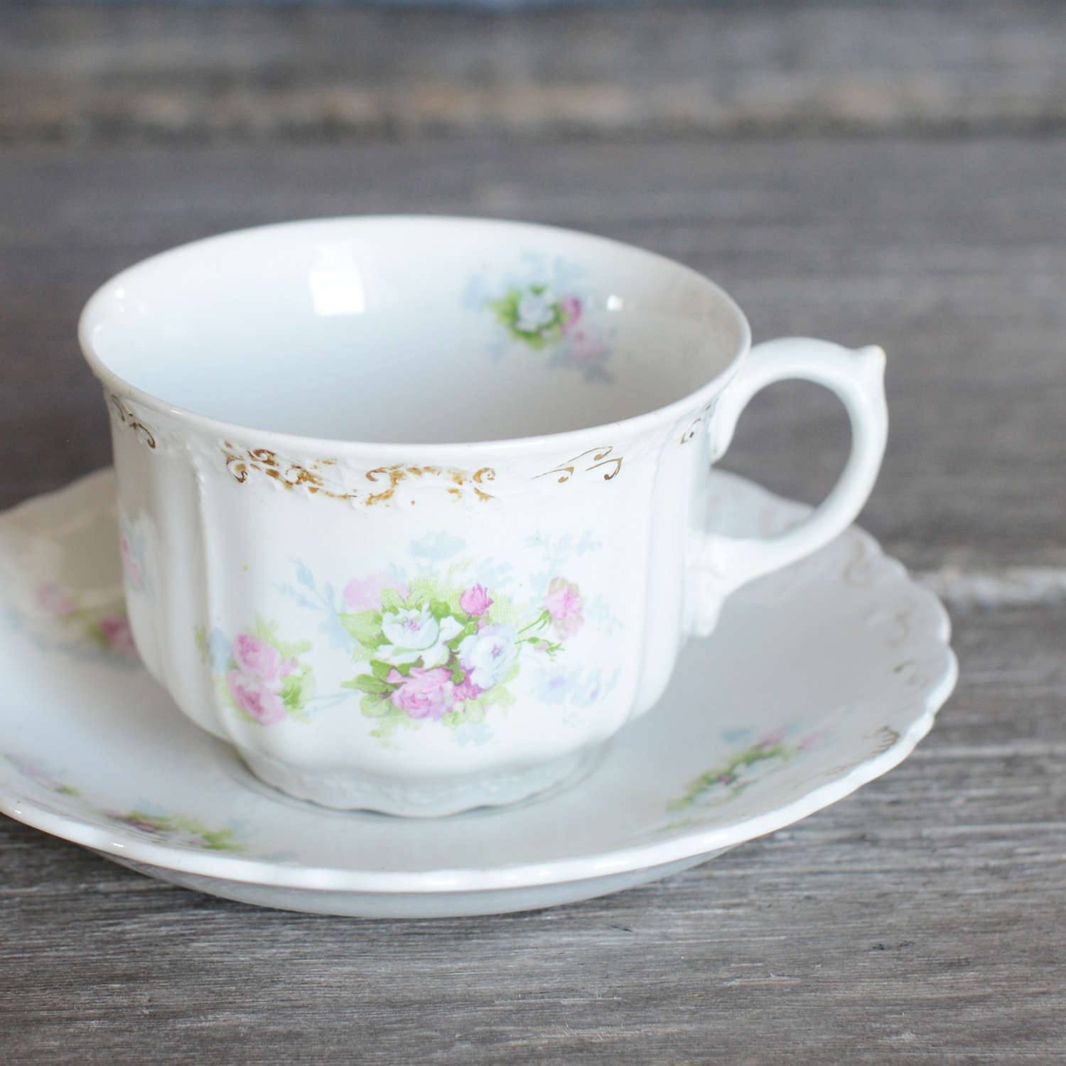 hanley tea cup and saucer - 2 available