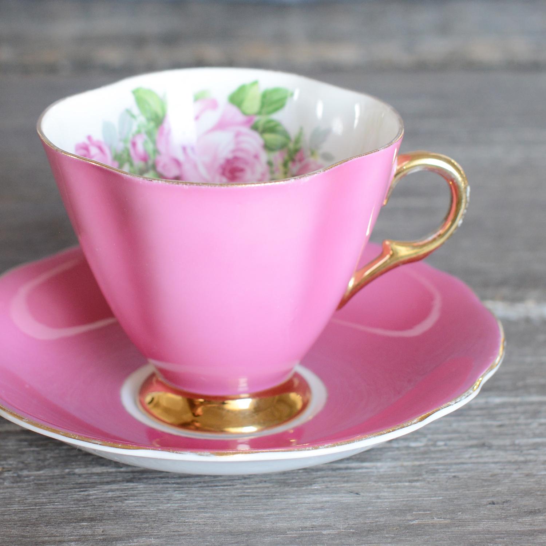 tudor tea cup and saucer