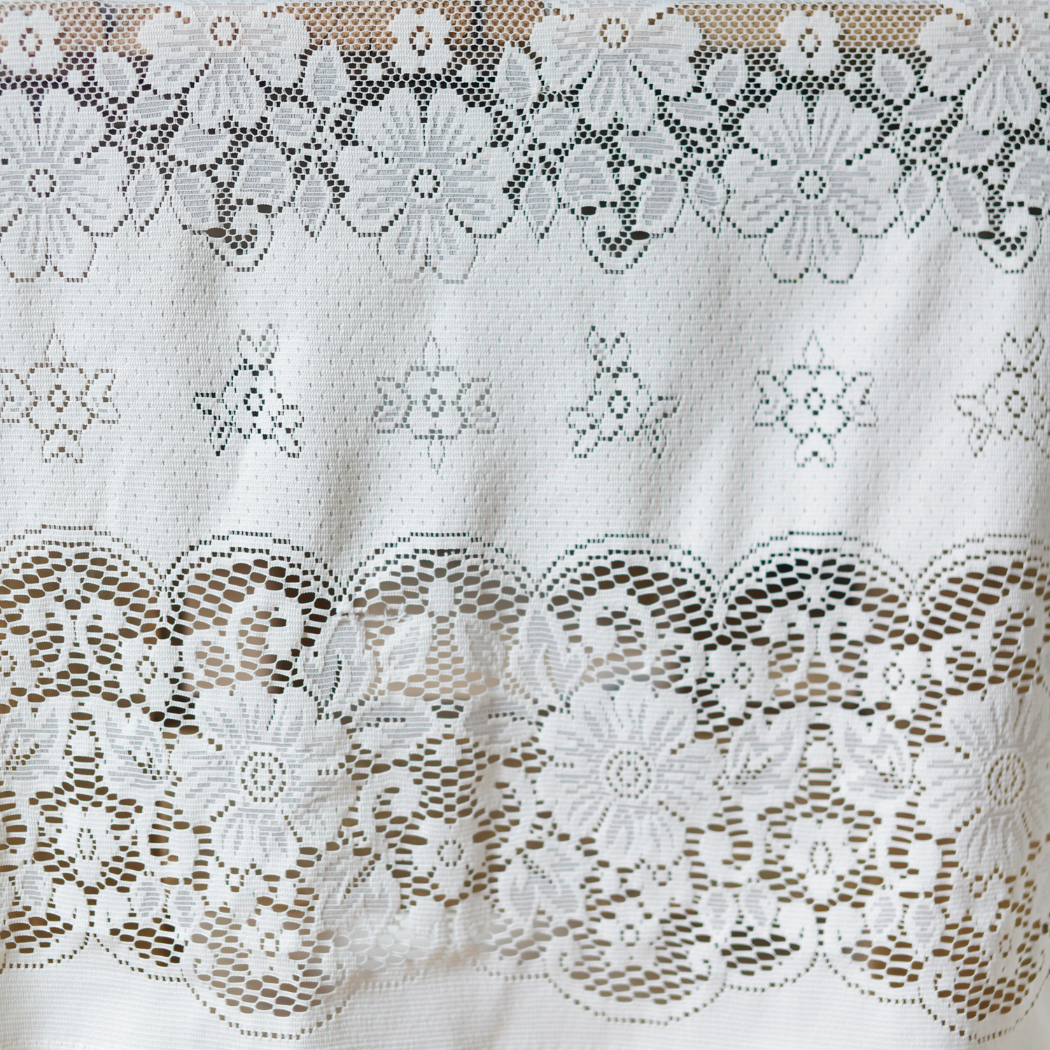 assorted vintage lace tablecloths