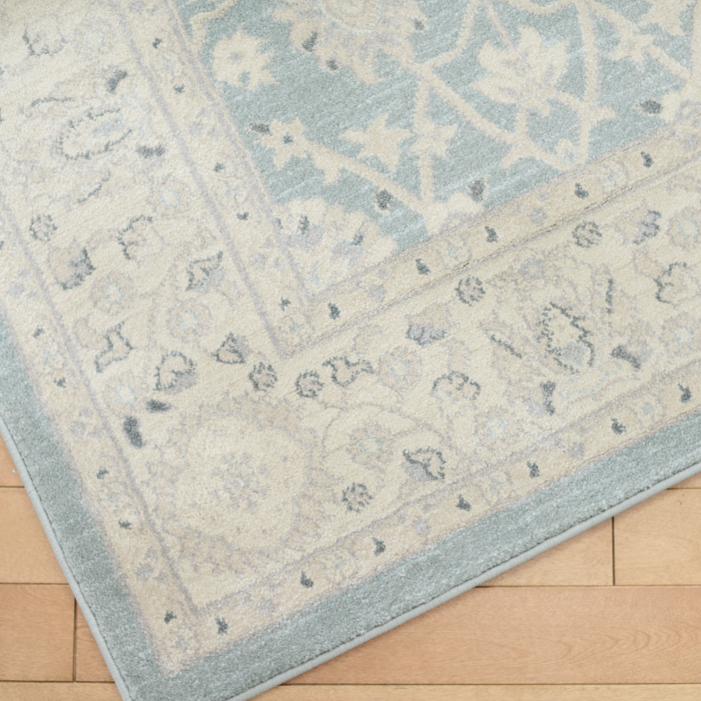 5.5x7.5 blue/gray area rug