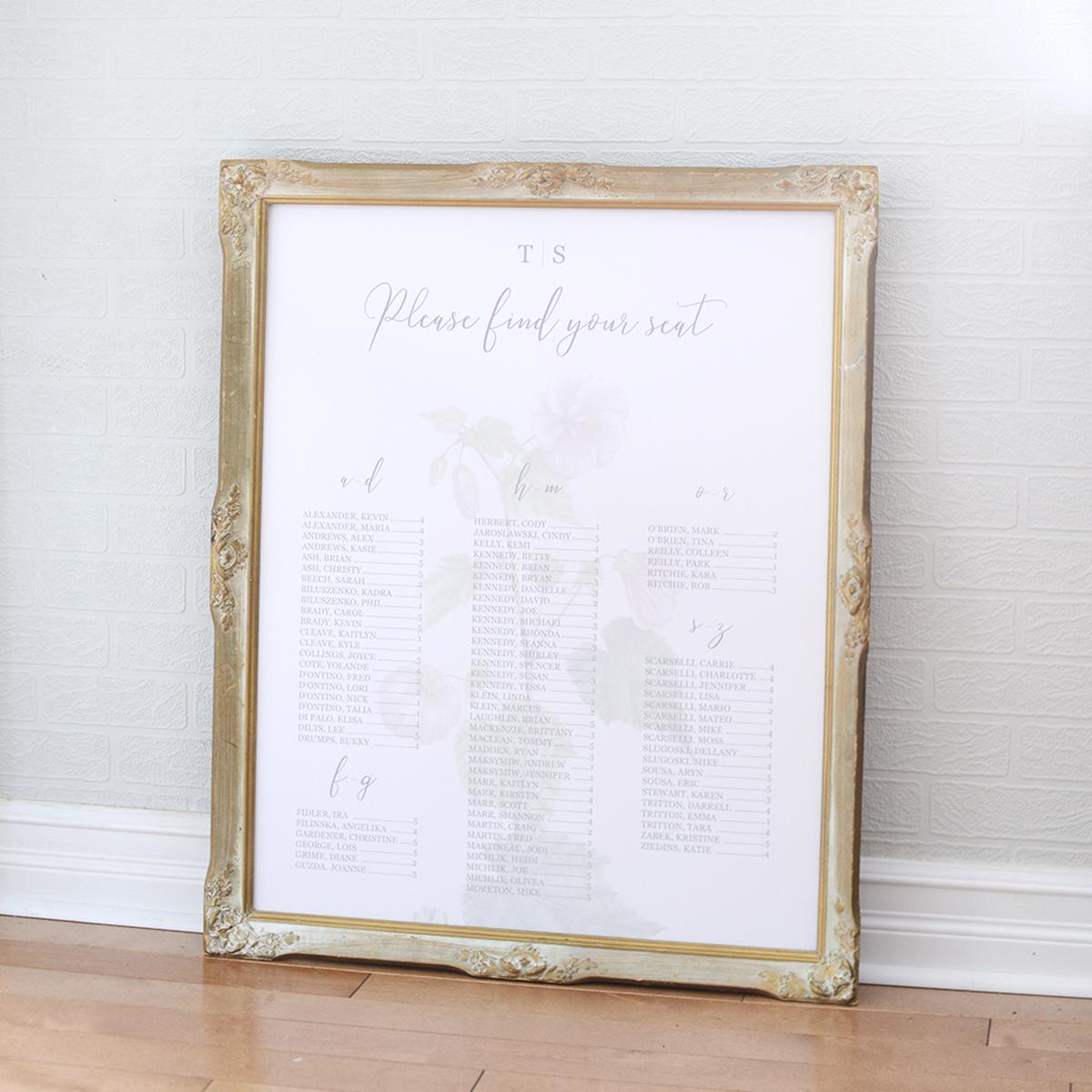 """24"""" x 30"""" luella frame - shown w/ custom sign"""
