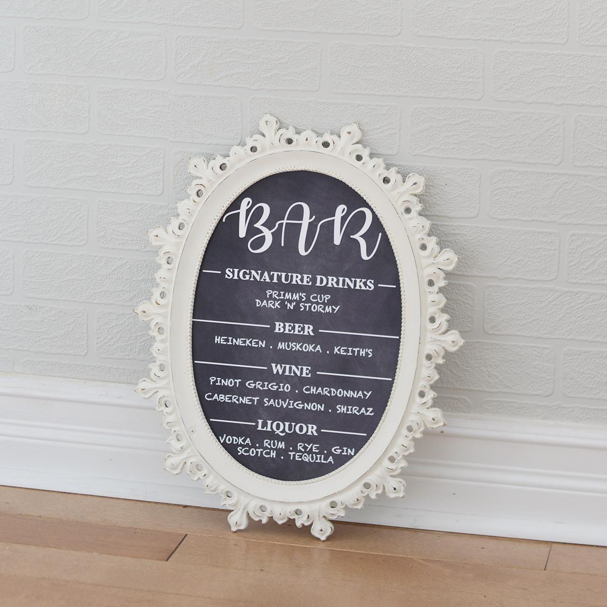 "9.25"" x 13.25"" dollie frame - shown w/ custom sign"