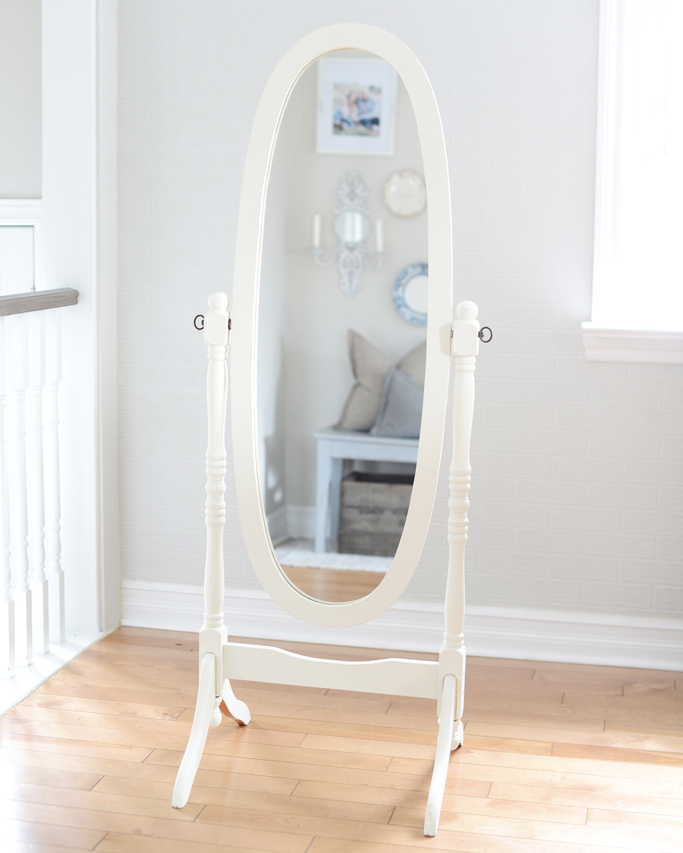 "5' pearl dressing mirror (13.5"" x 43.5"" mirror)"