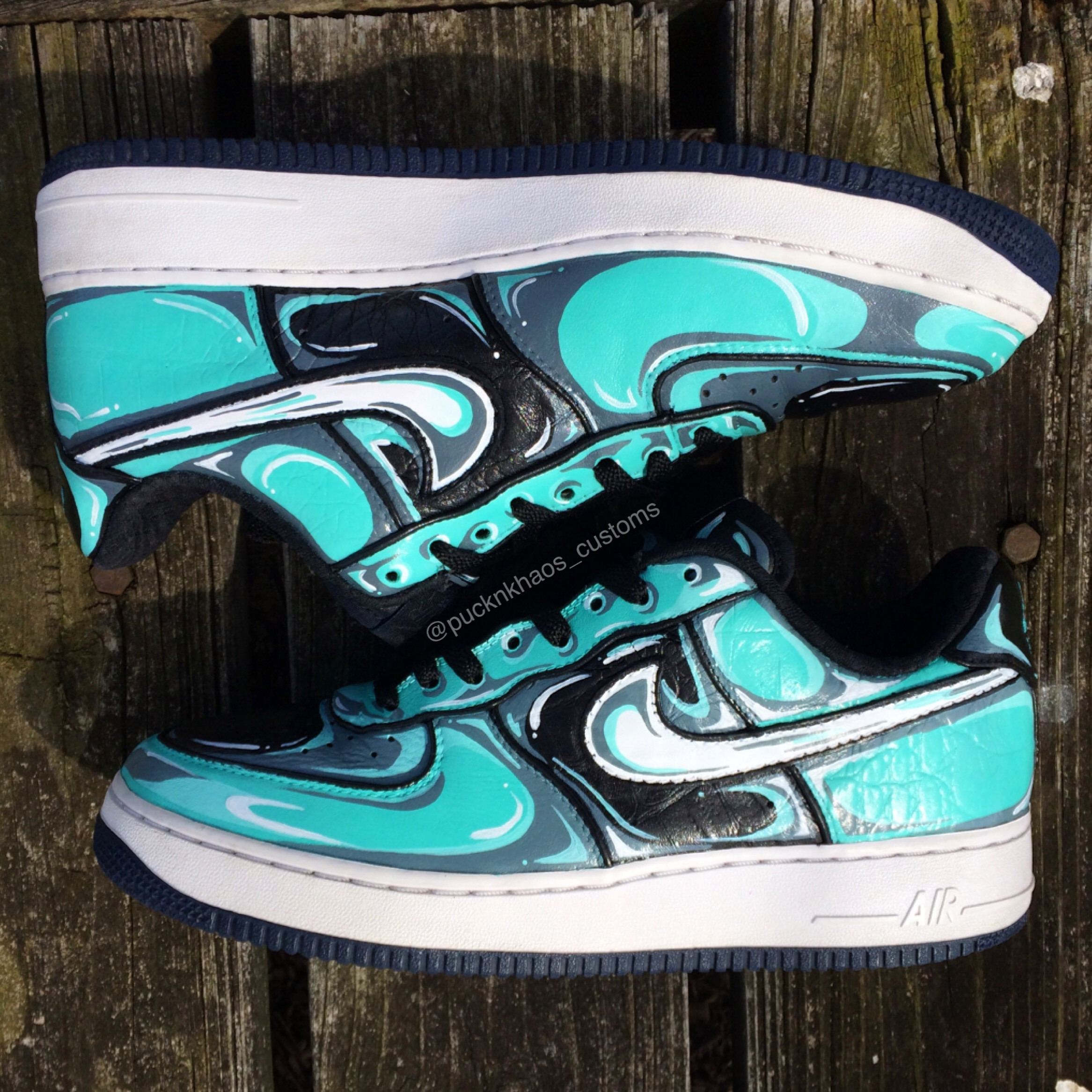 aqua nike sneaker customs aerial view puckn khaos.JPG