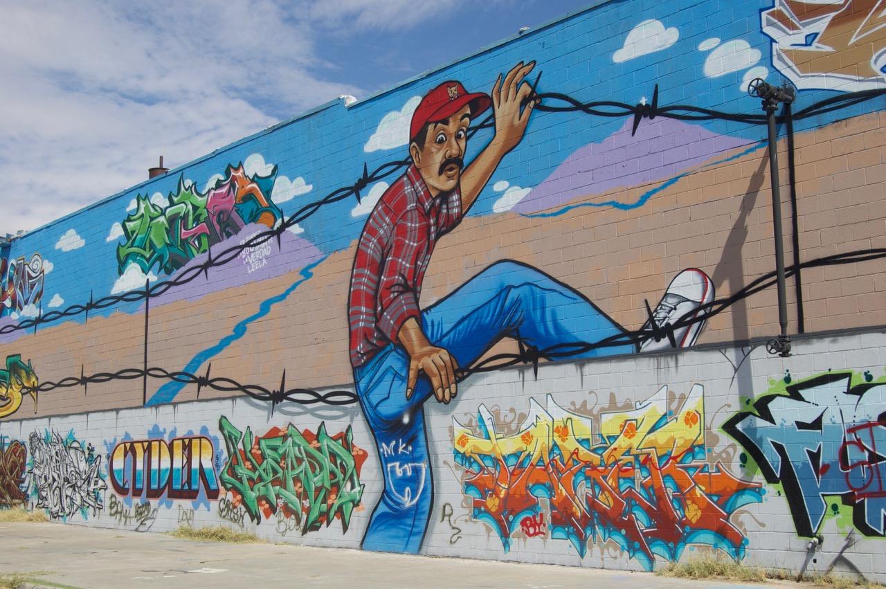 In the warehouse district west of Segundo Barrio, El Paso, TX