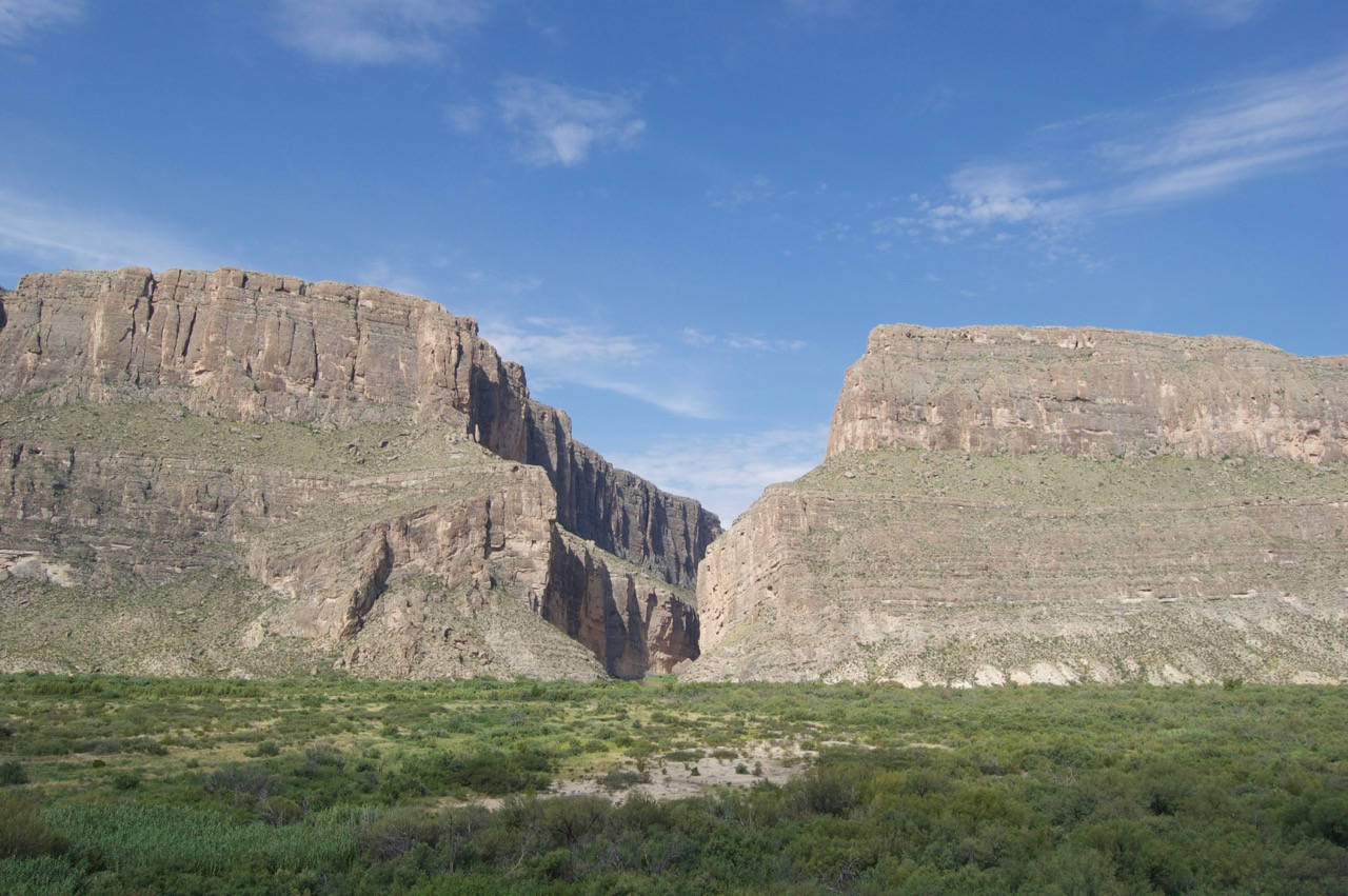 Mouth of Santa Elena Canyon, Big Bend National Park, TX