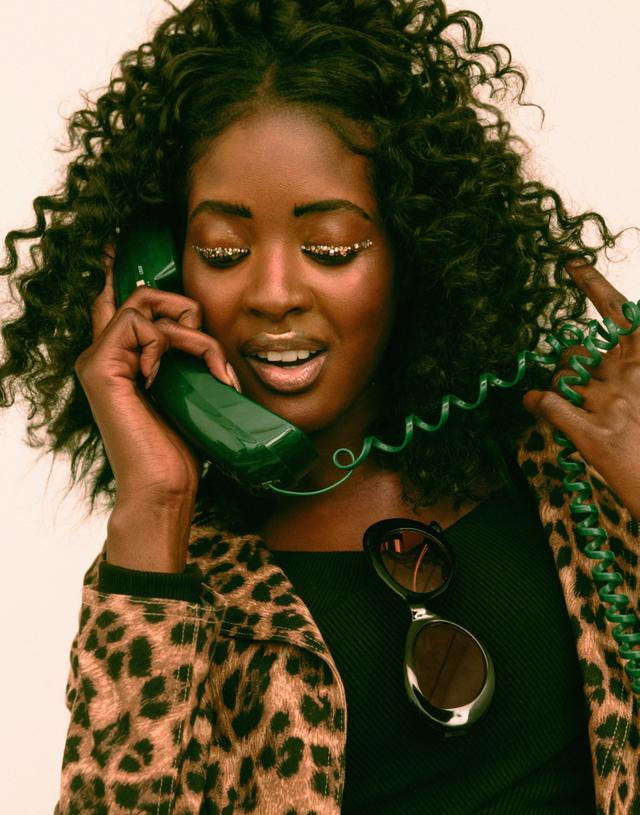 "NYLON Germany editorial ""Hotline Bling"" styling and creative direction by Nyasia for NYLON's ""It's Hot"" Issue published June 8, 2018.  Photographer : Savanna Ruedy  Stylist: Nyasia Rudolph  MUA: Dina Drevenak  Hair : Jehnna Mahoney  Set Design: Chelsea Finkel  Model : Sira Kante"