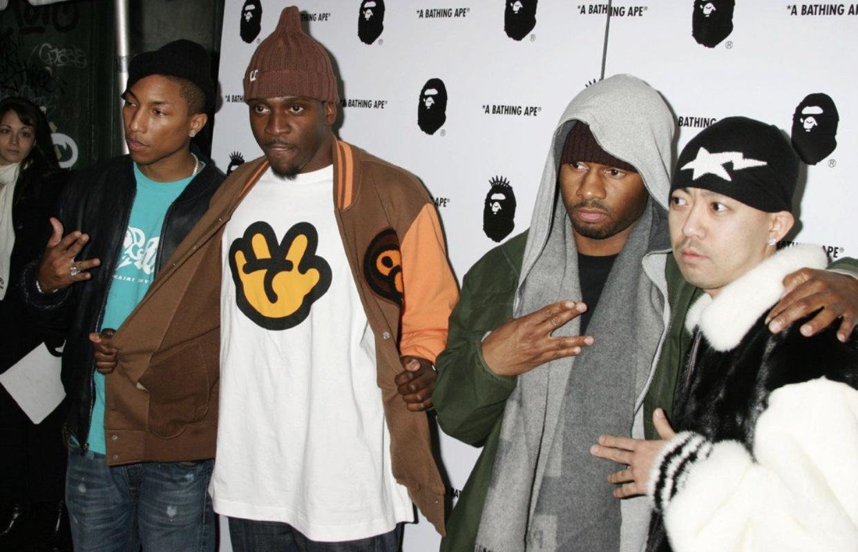 (LEFT TO RIGHT) Pharrell, Clipse, No Malice and Nigo
