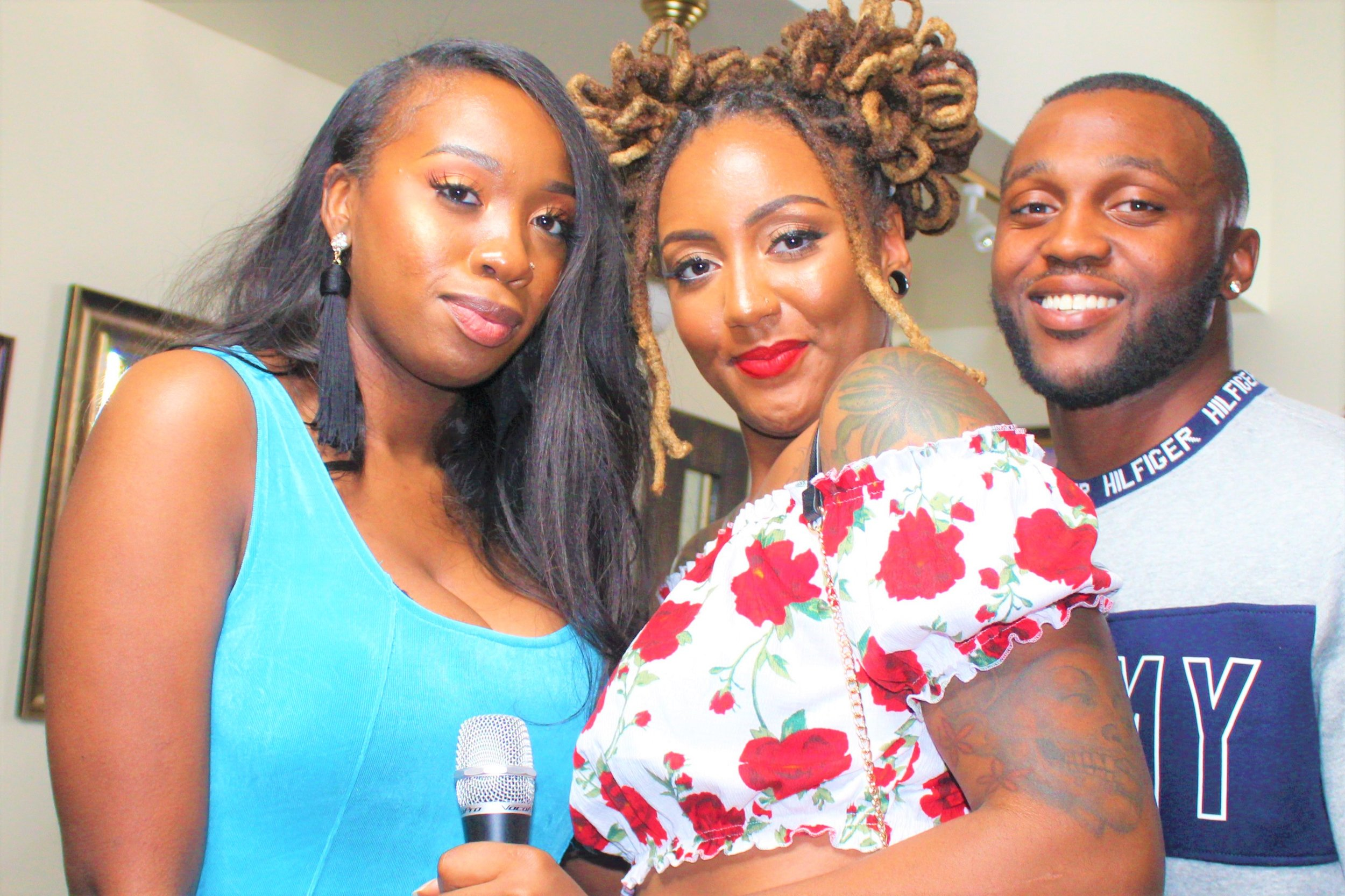 Founder and Creator of Authenticity, Lonette striked a pose with fellow co-hosts Key and Storey during their live event over the past weekend.  Photo Credit:  Danielle Brown