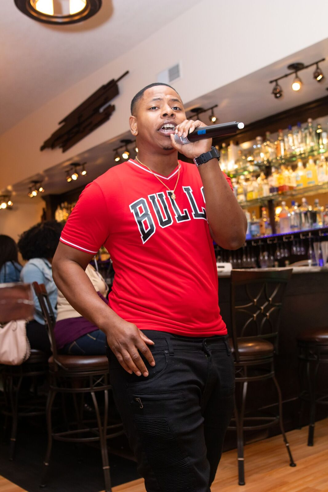 Authenticity's very own, Willie Gee performed one of his hit songs in front of a packed house at their first live show.  Photo Credit:  Phillip Ellington