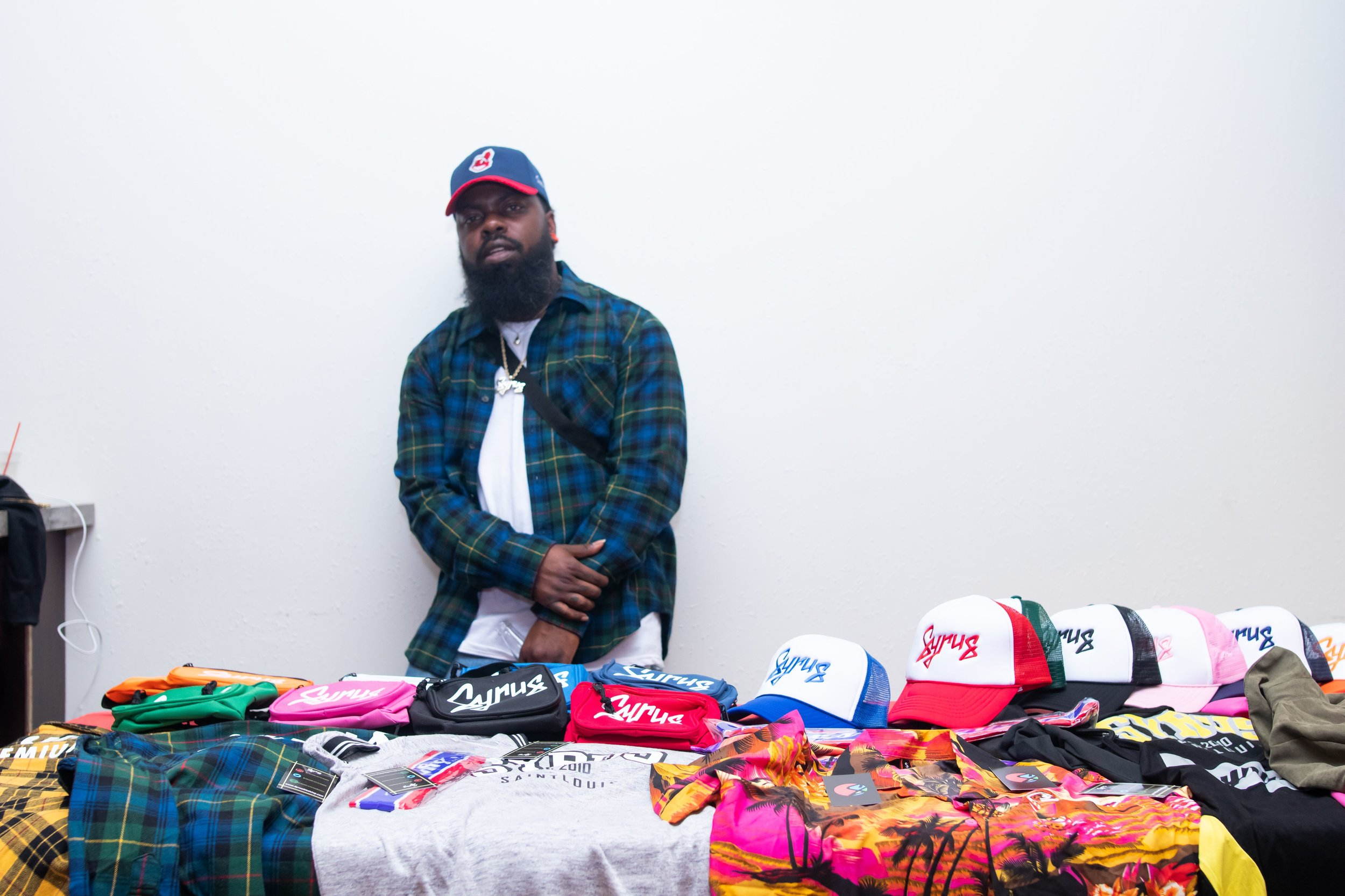 Syrus Klothing Co. , an urban clothing specializing in streetwear was one of the vendors on sight at Authenticity's live show.  Photo Credit:  Phillip Ellington
