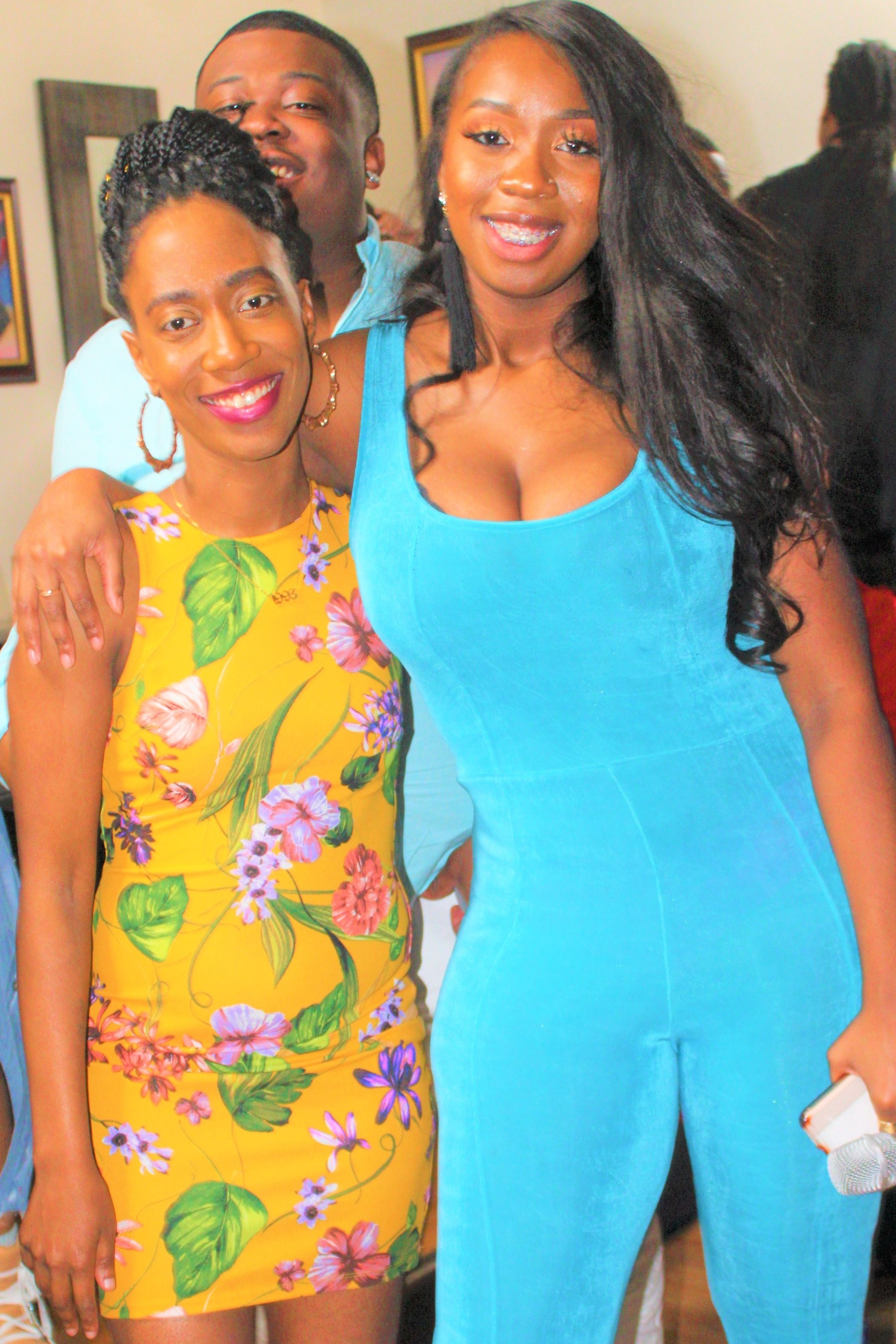 I shared some smiles with the panelist Shon and Founder of Authenticity, Lonette during their first live segment.
