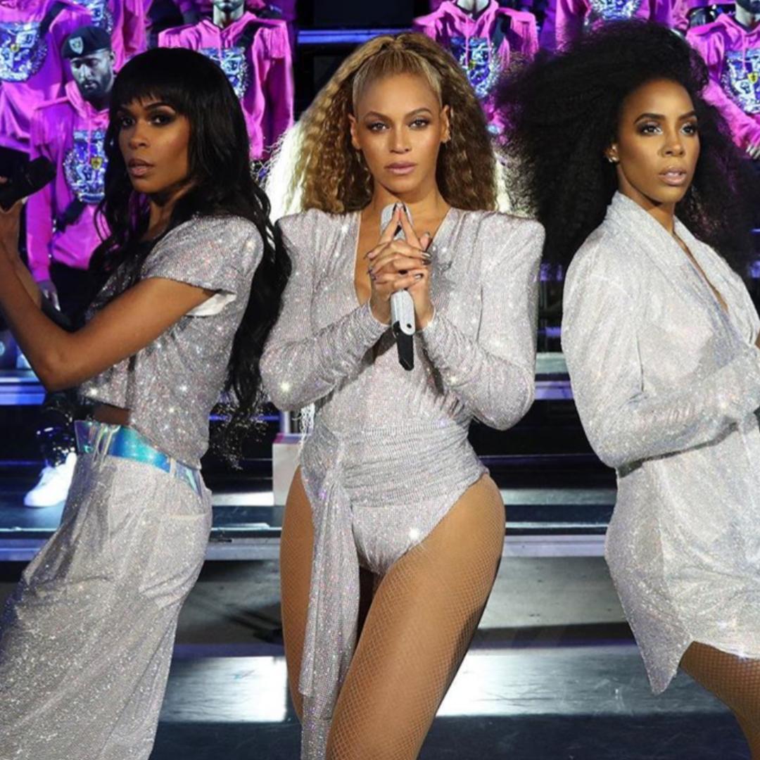 Destiny's Child during Beyoncé's 'BeyChella' set at last year's Coachella.  Credit:  Beyoncé's Instagram