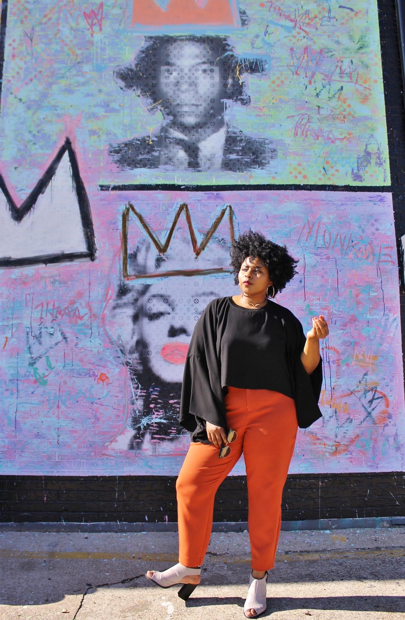 lady by marilyn monroe mural in deep ellum